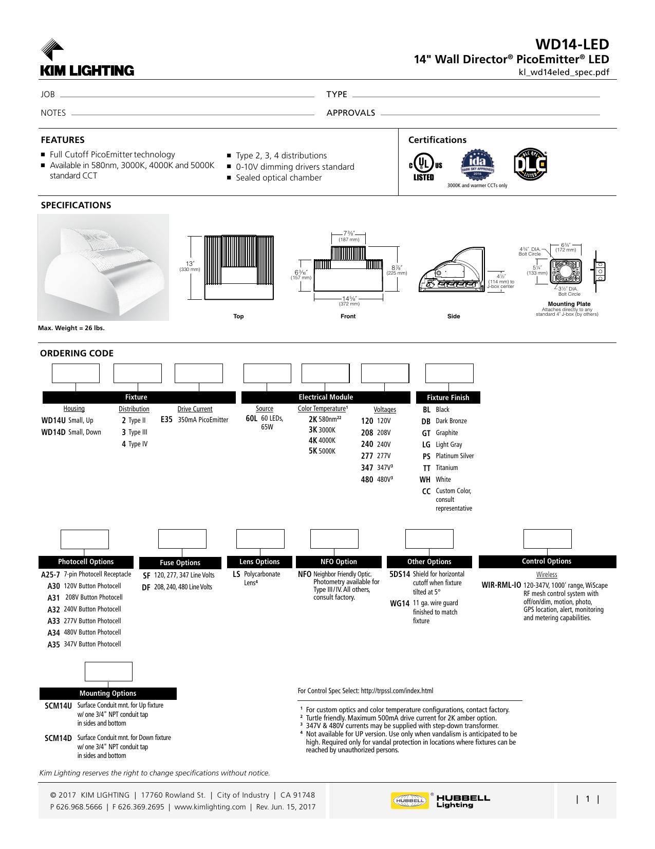 Wd14 Led Kim Lighting Manualzz