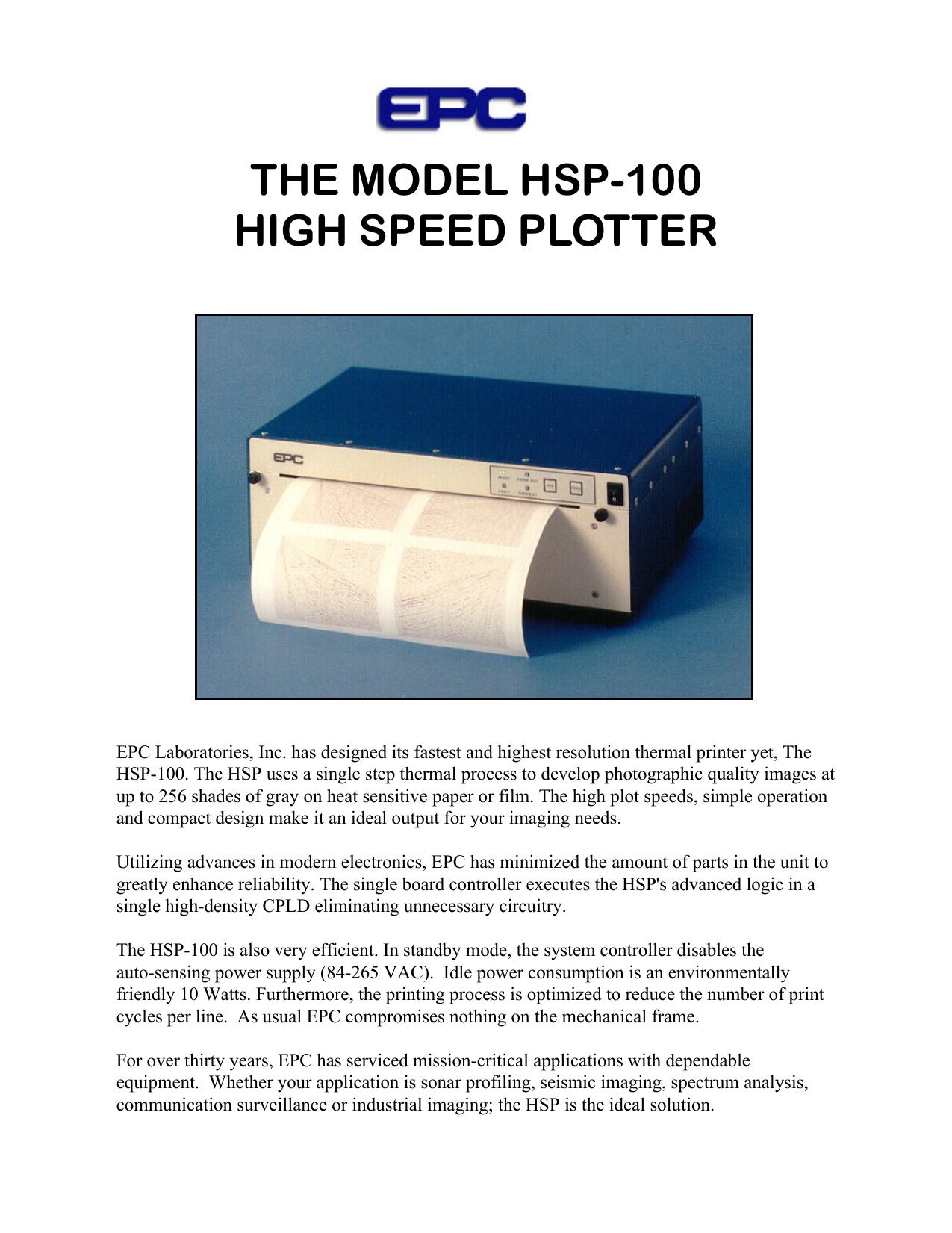 THE MODEL HSP-100 HIGH SPEED PLOTTER   manualzz com