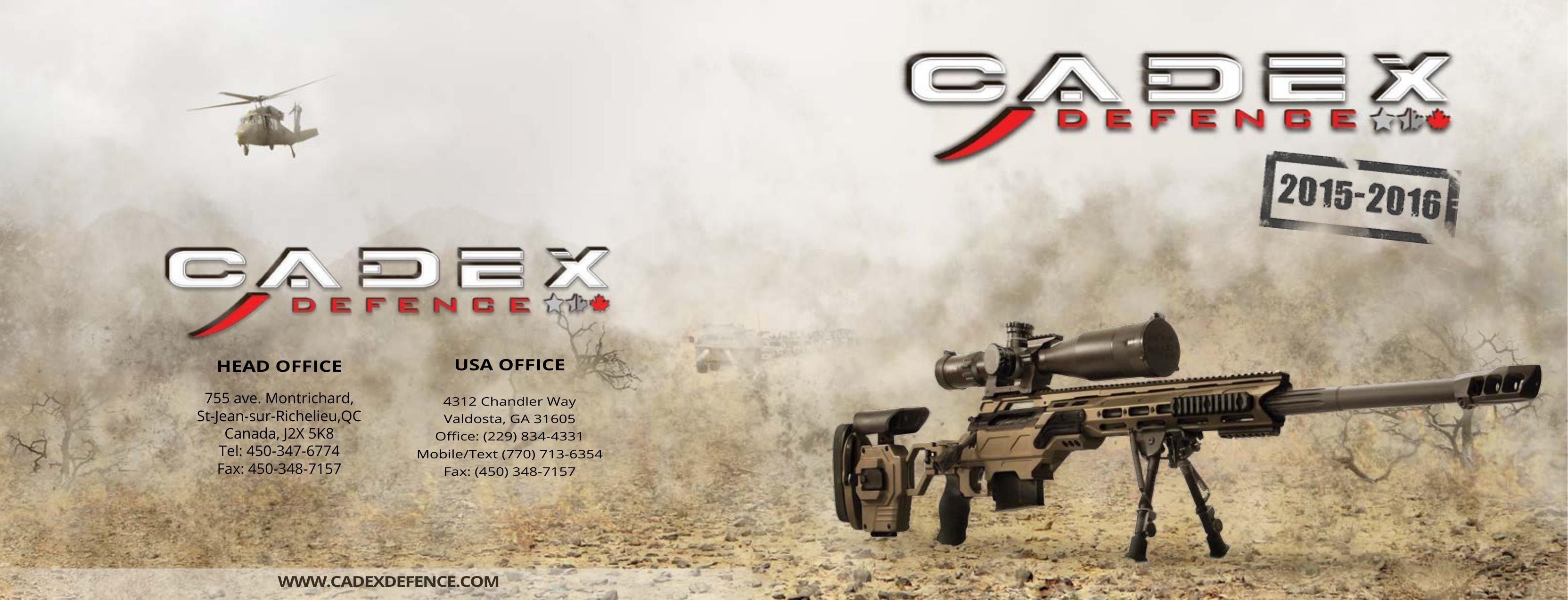 dual strike - Cadex Defence | manualzz com