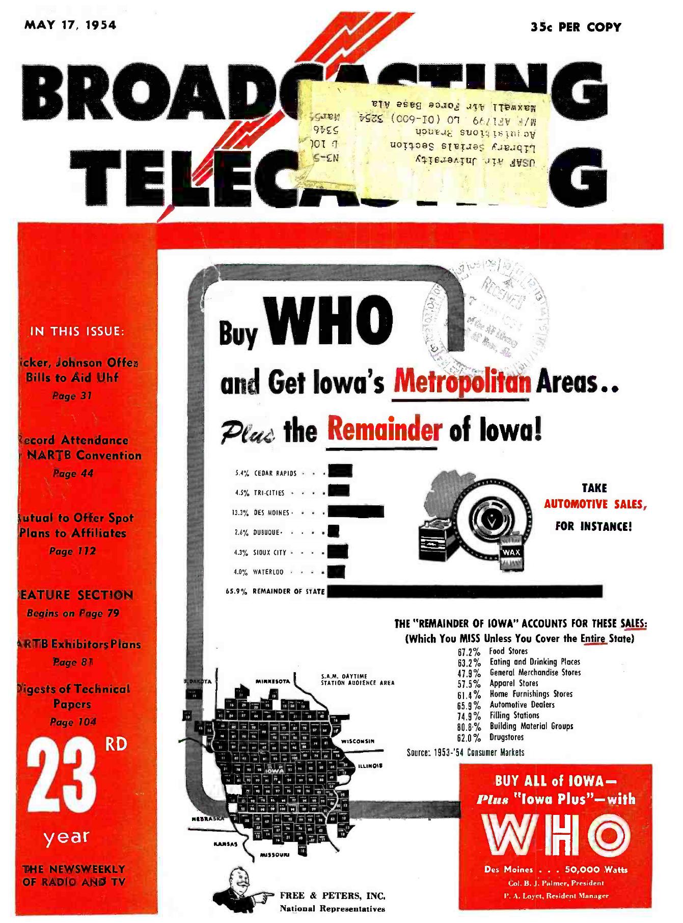 1954 05 17 American Radio History Serutan Double Grade A