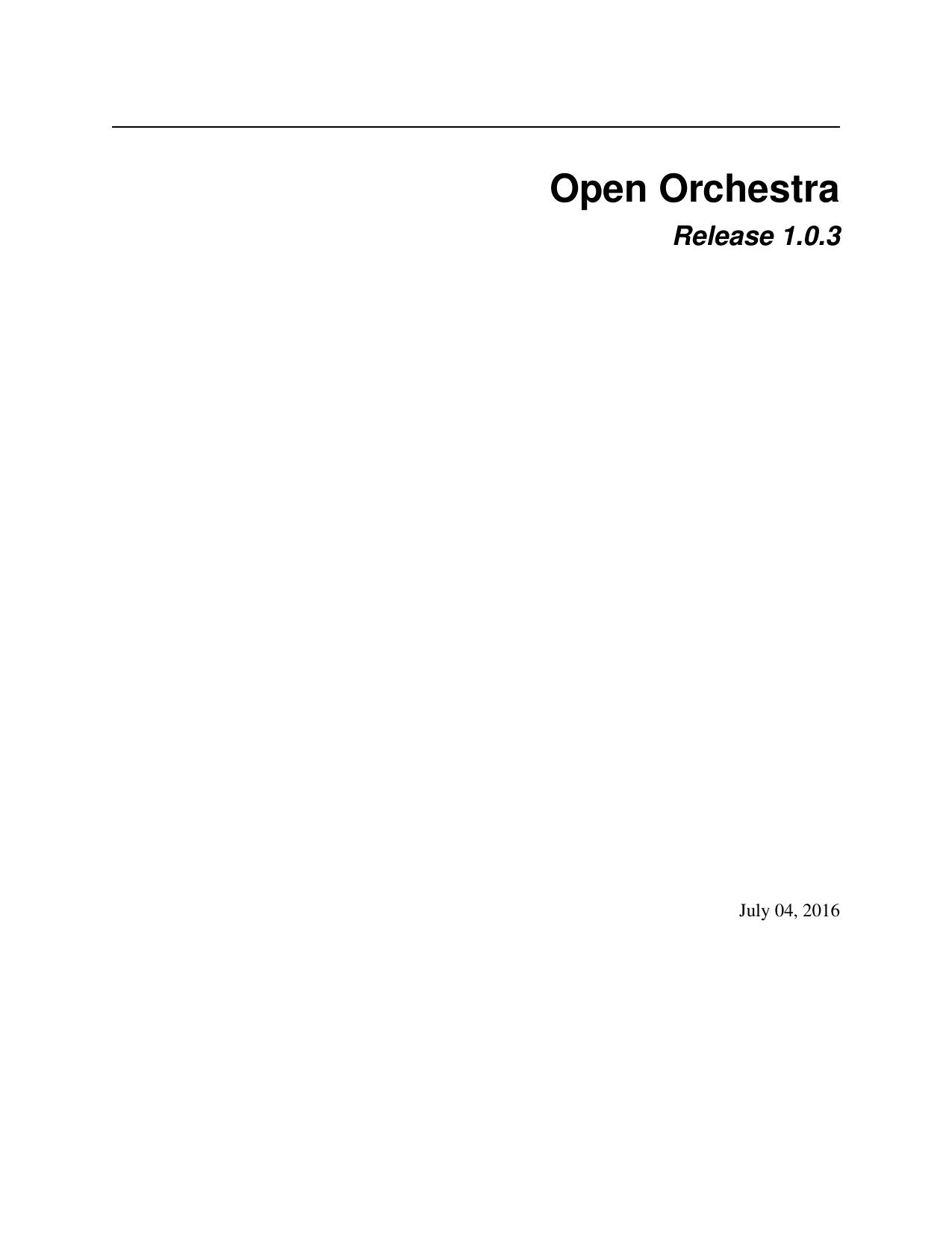 Open Orchestra - Read the Docs | manualzz com