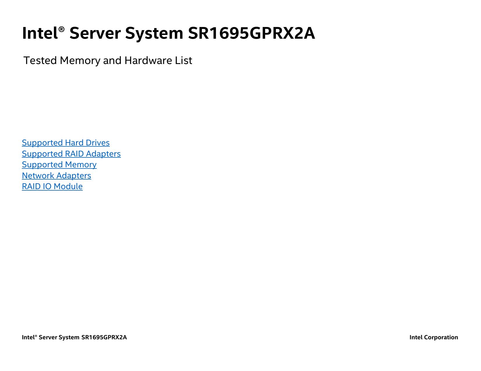 *TESTED* Intel AXXROMBSASMR PCI-Express x8 SAS RAID I//O Expansion Module