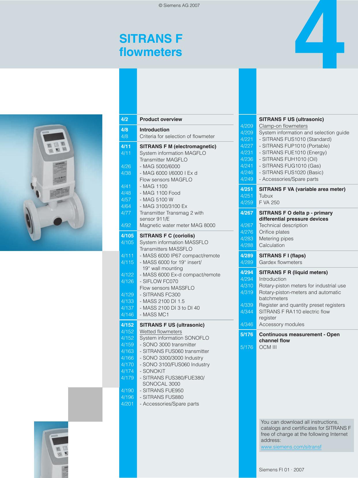 dcf2bc3d7 SITRANS F flowmeters | manualzz.com