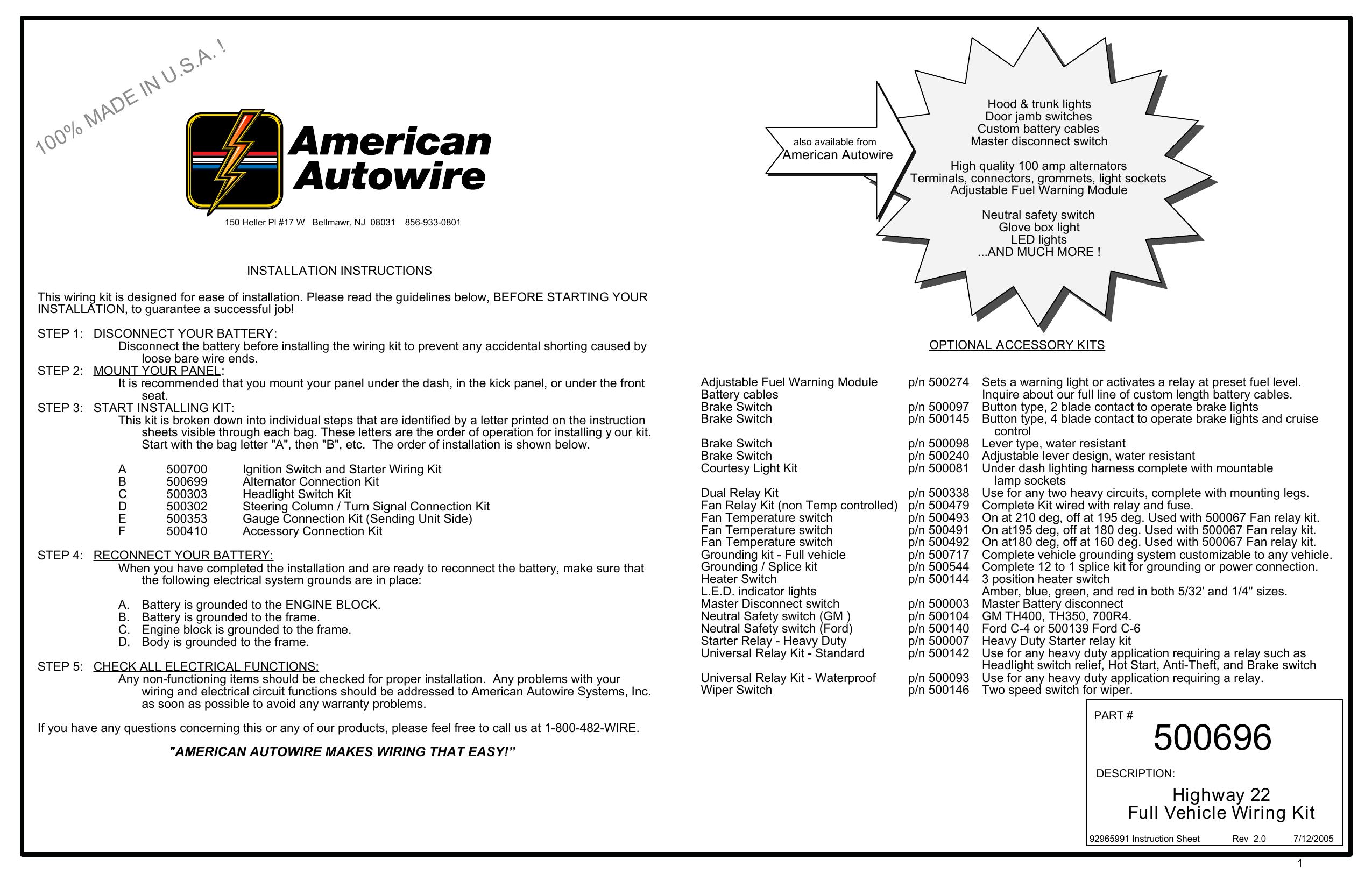 33 American Auto Wire Wiring Diagram
