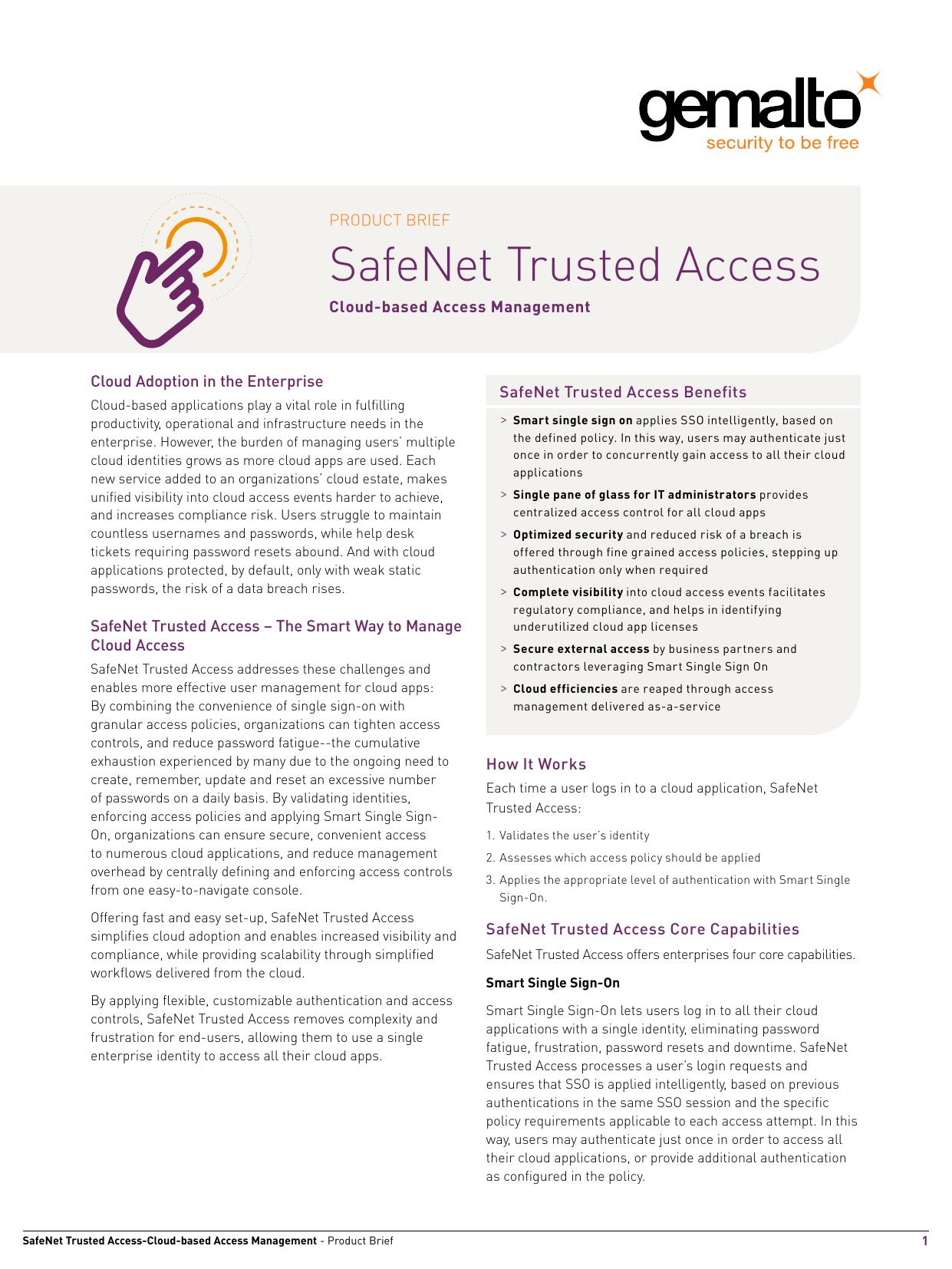 SafeNet Trusted Access | manualzz com