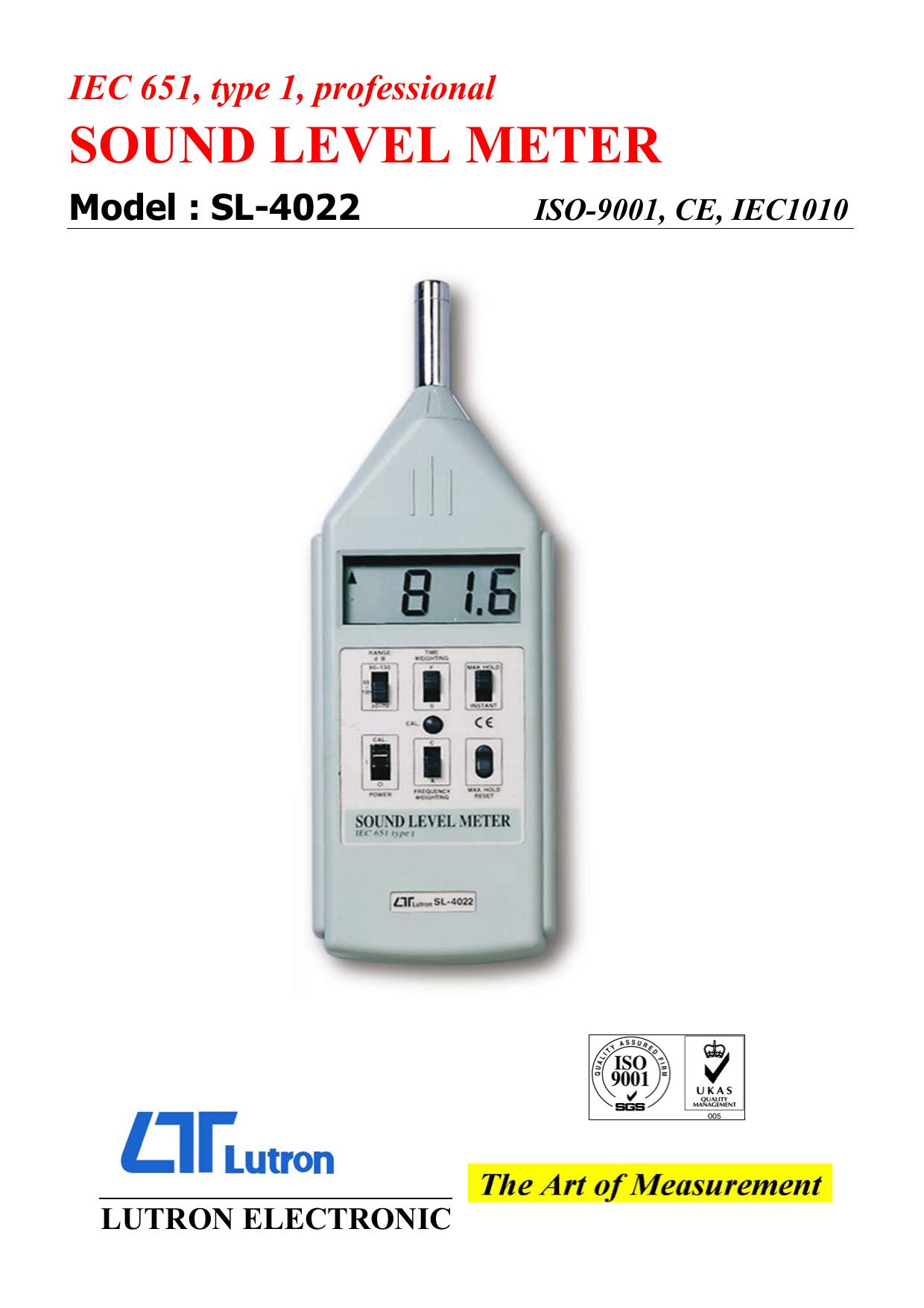 sound level meter - Svenska Termoinstrument | manualzz com