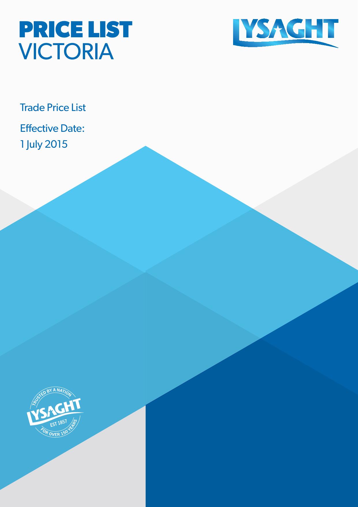 price list victoria - Lysaght Professionals | manualzz com