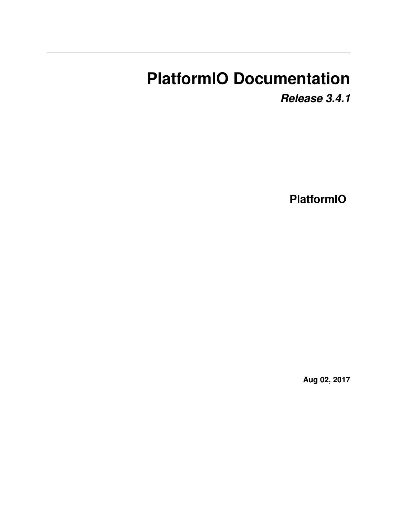 PlatformIO Documentation | manualzz com