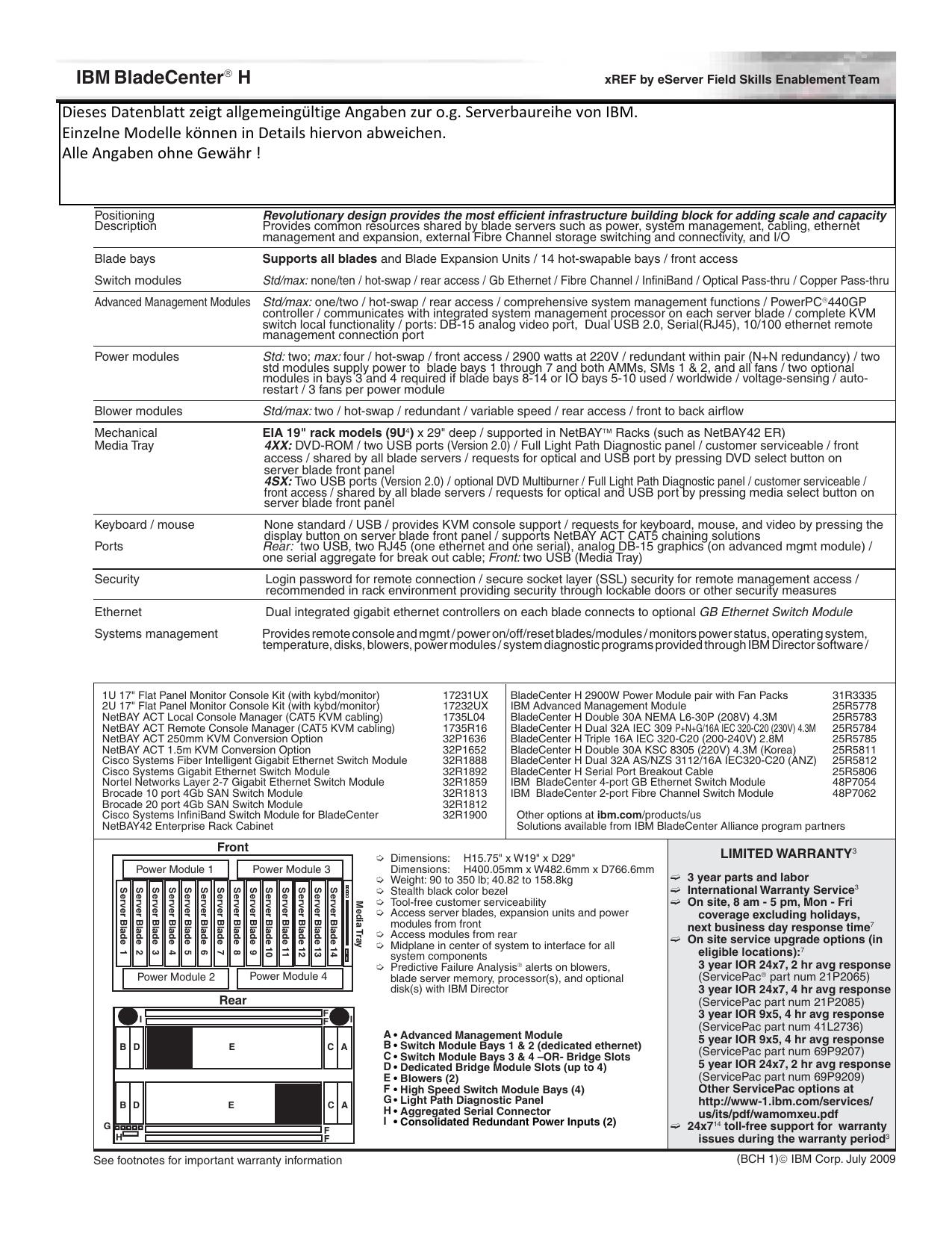 IBM Bladecenter H Serial Port Breakout Cable
