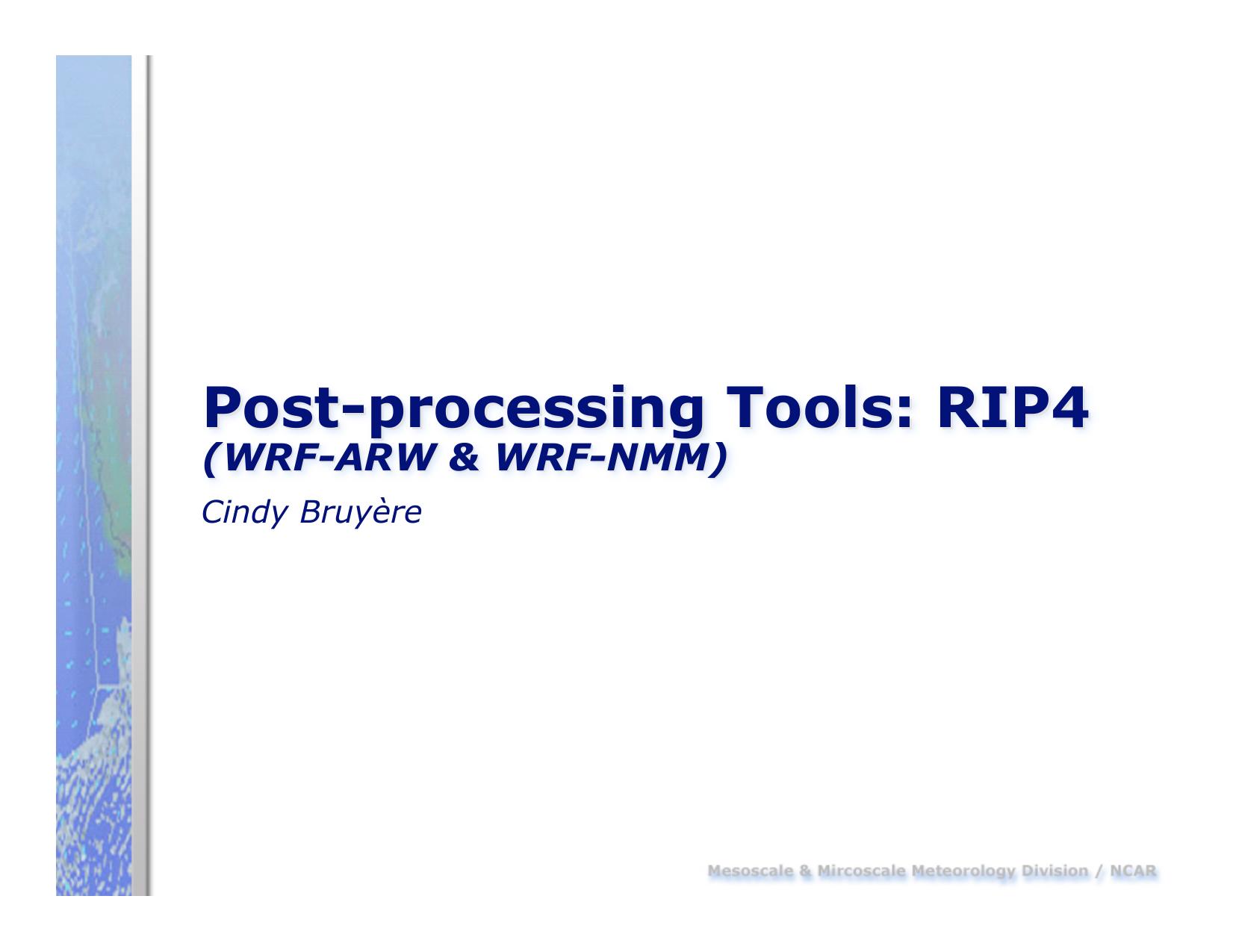 Post-processing Tools: RIP4 | manualzz com