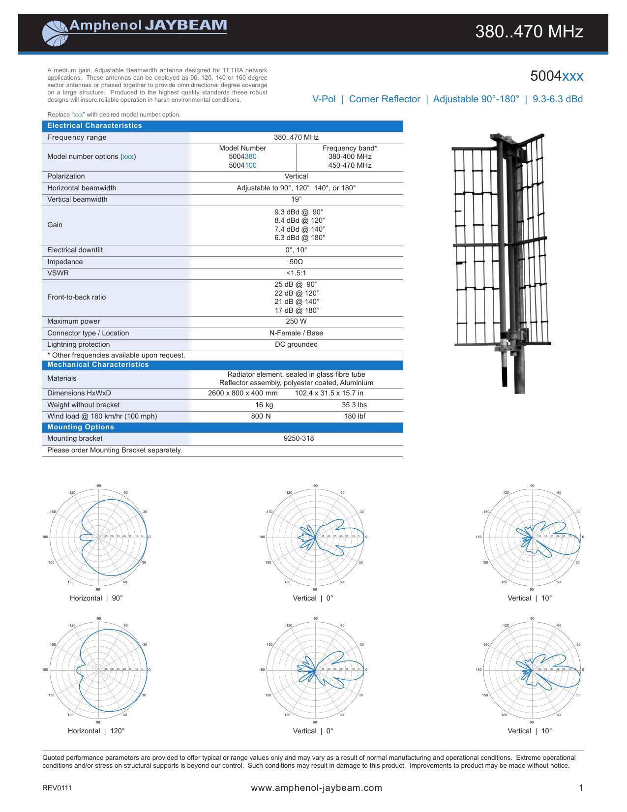 380  470 MHz - Amphenol Antenna Solutions | manualzz com