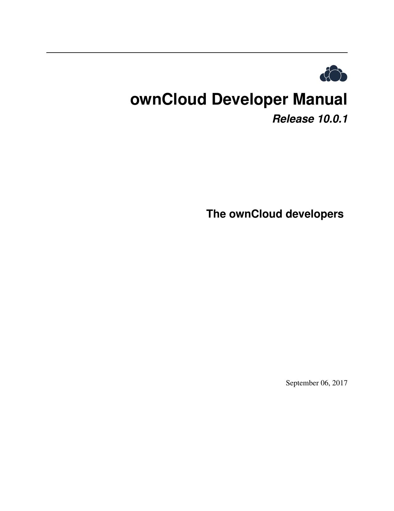 ownCloud Developer Manual | manualzz com