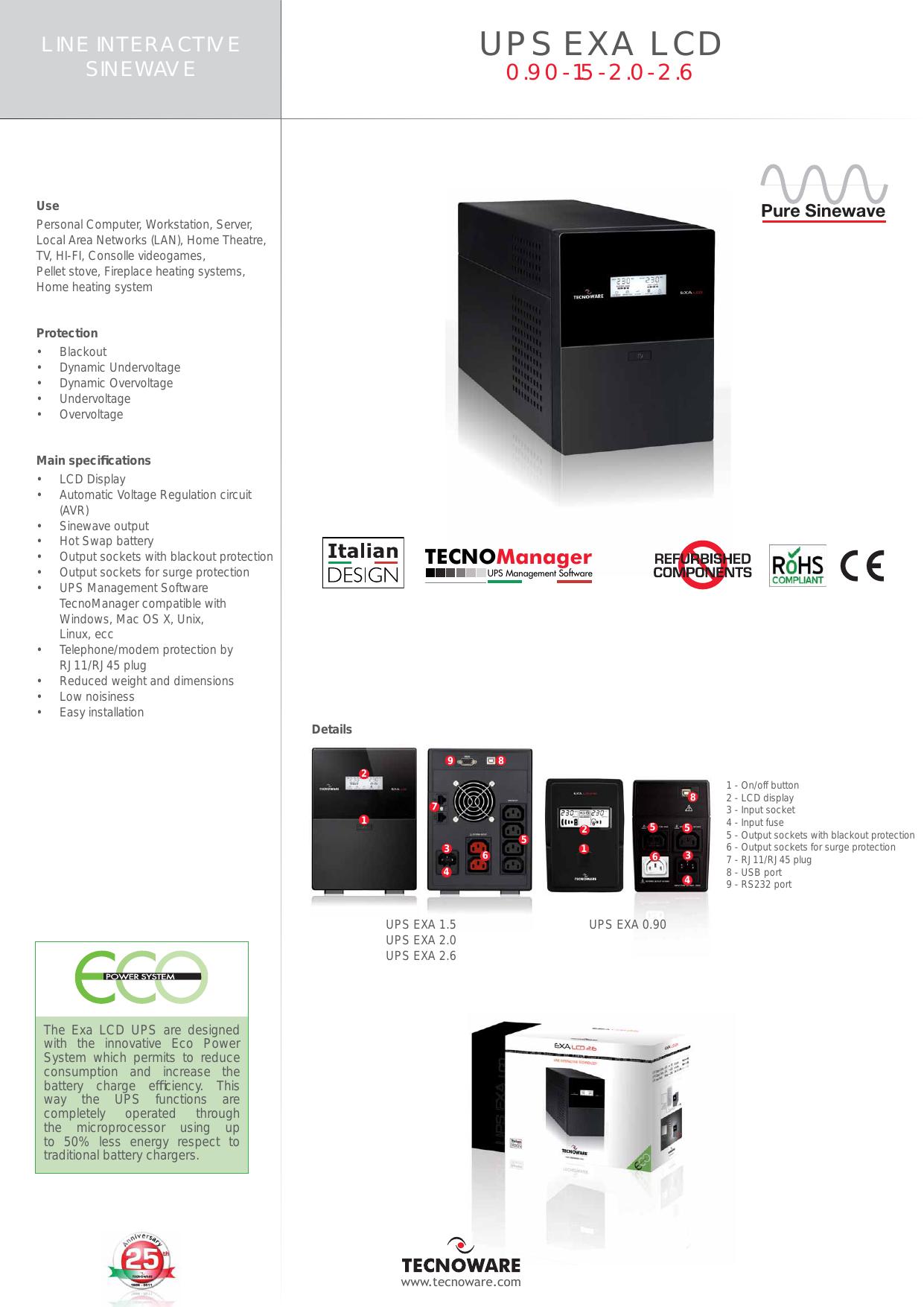 UPS EXA LCD - GM electronic   manualzz com