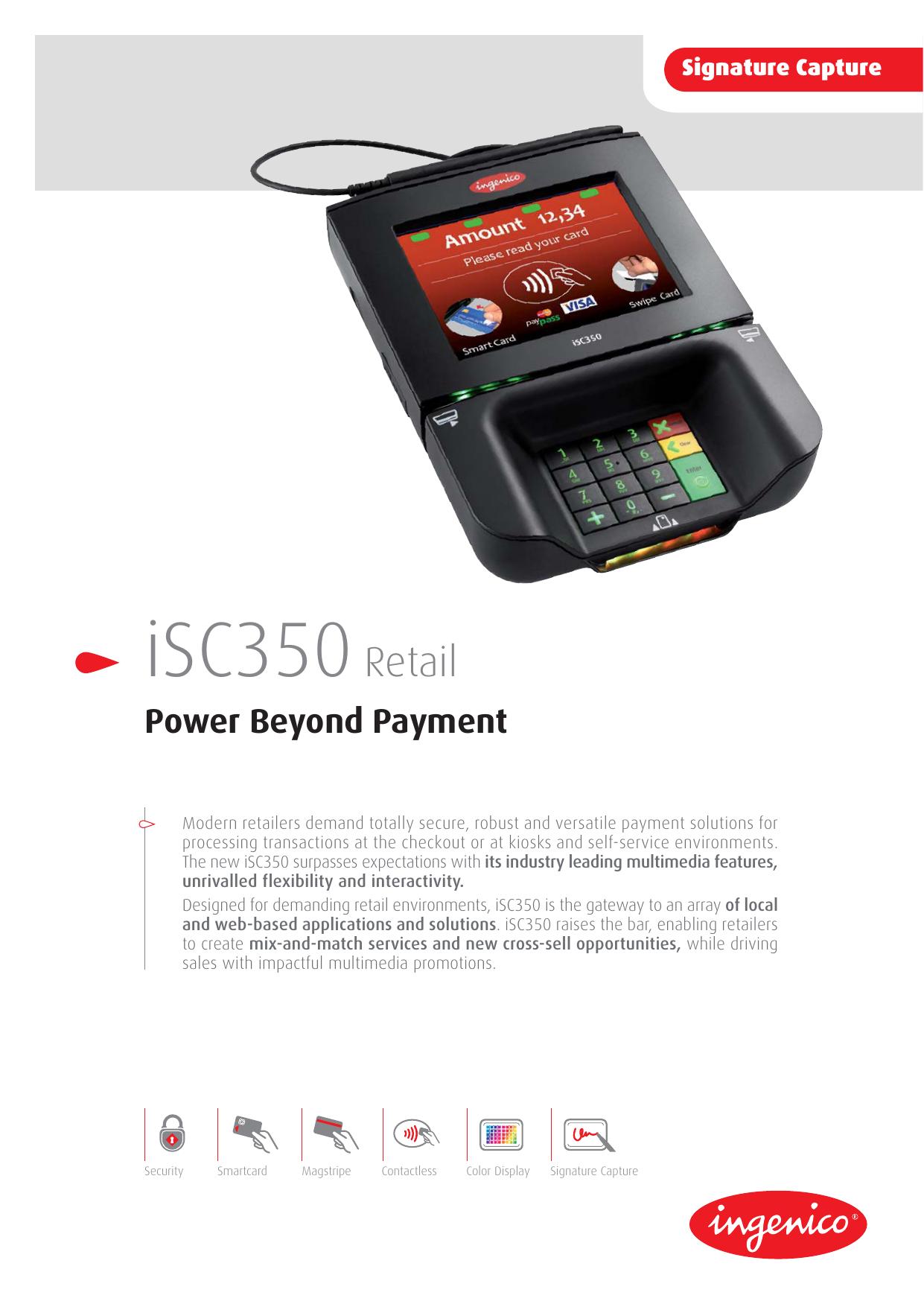 Ingenico Signature Capture iSC350 Retail | manualzz com