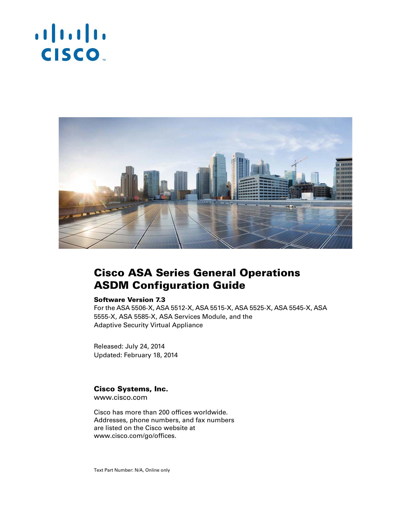Cisco ASA Series General Operations ASDM Configuration Guide