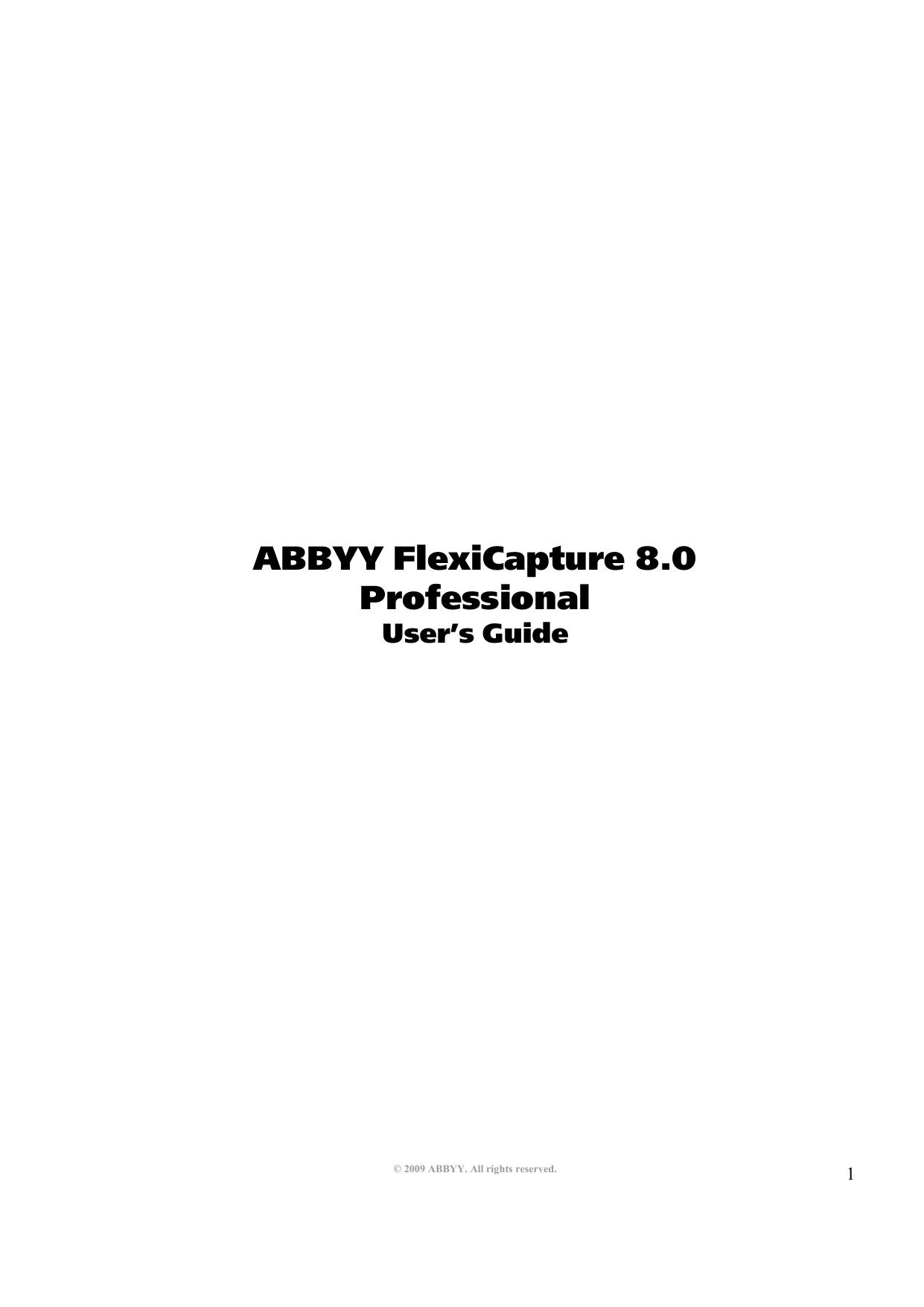 ABBYY FlexiCapture 8 0 Professional | manualzz com
