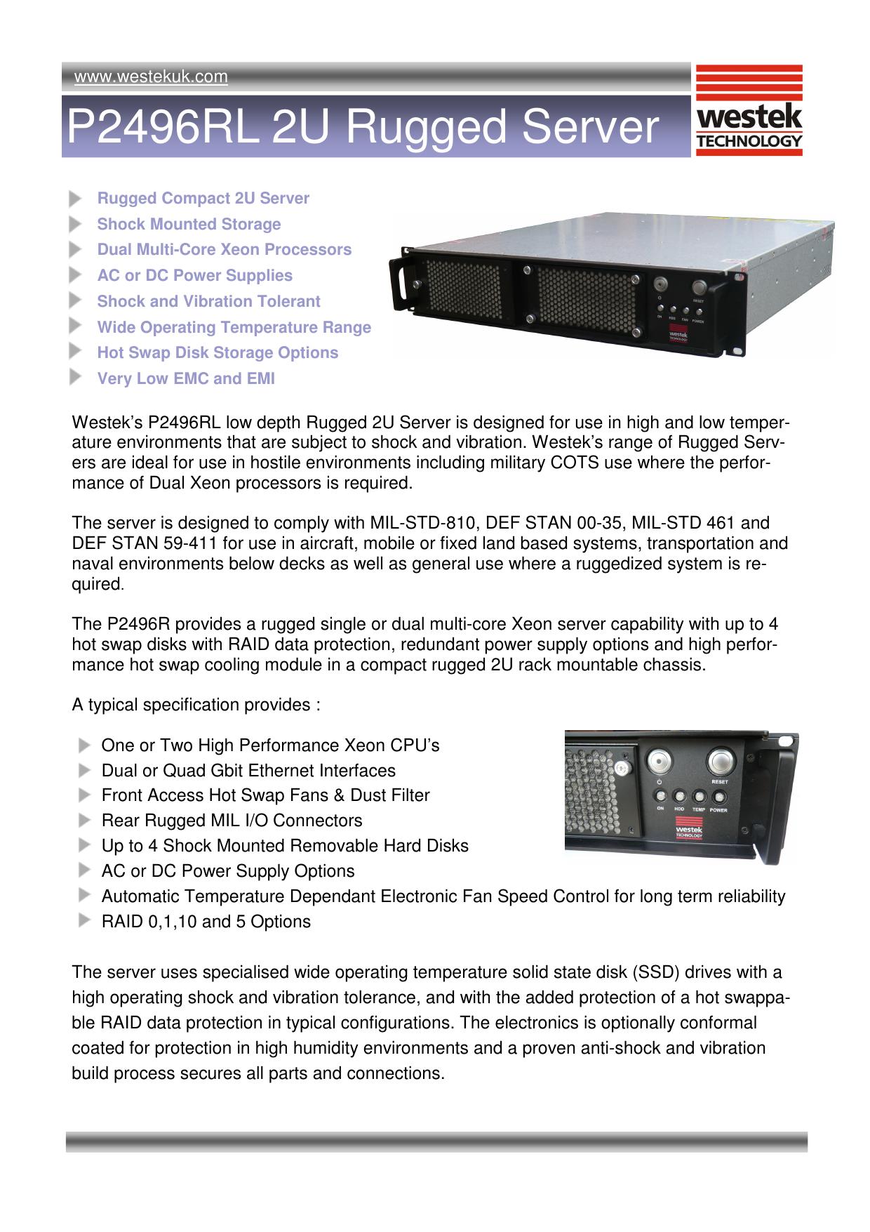P2496RL Rugged Server | manualzz com
