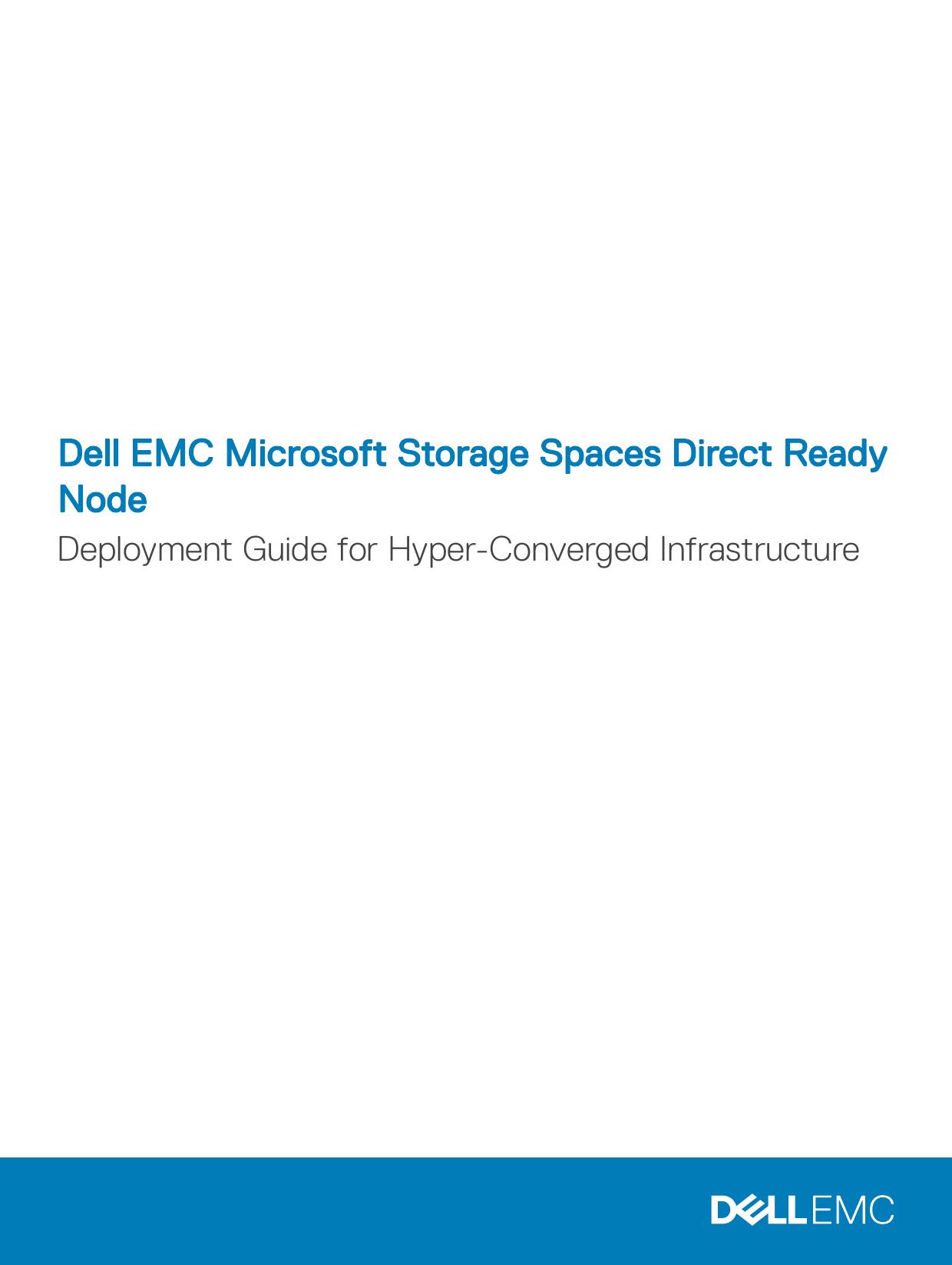 Dell EMC Microsoft Storage Spaces Direct Ready | manualzz com