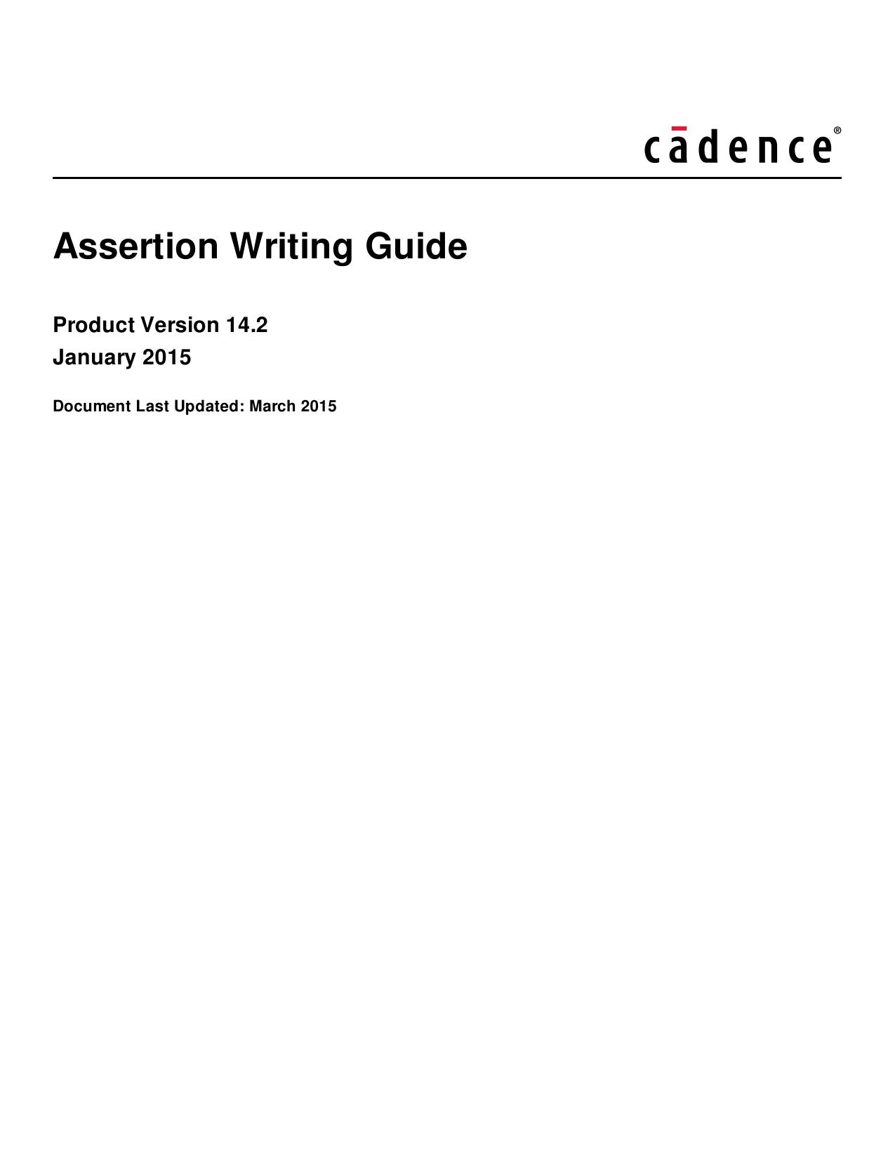 Assertion Writing Guide | manualzz com
