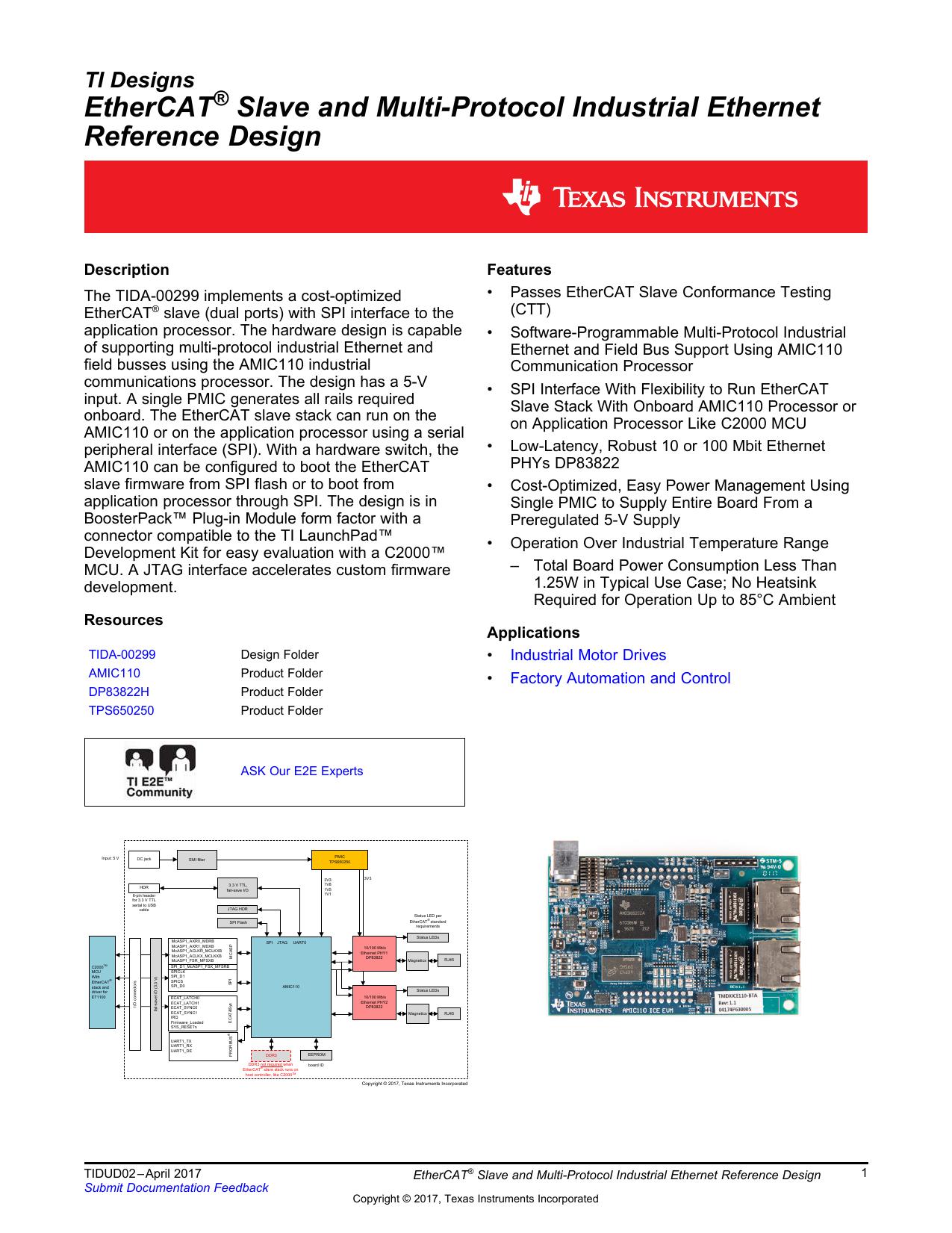 EtherCAT® Slave and Multi-Protocol Industrial | manualzz com