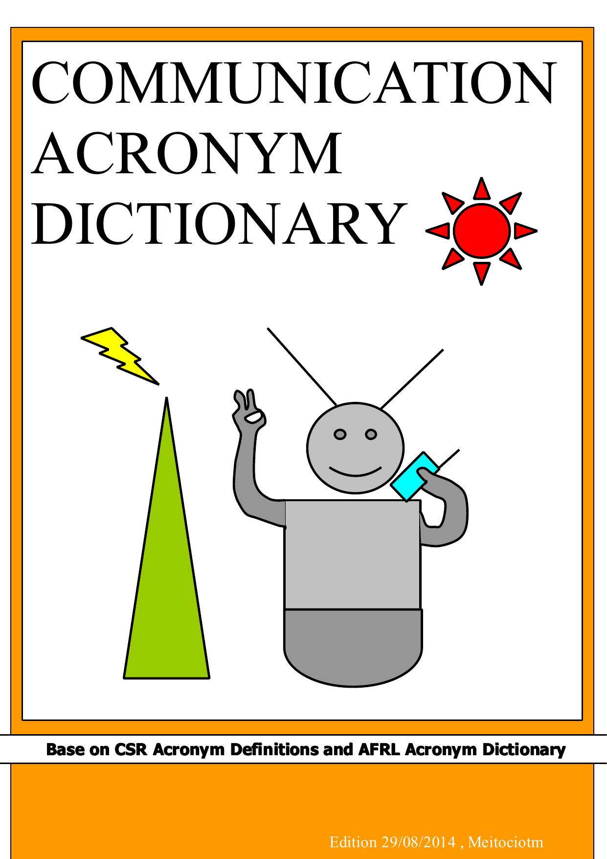 communication acronym dictionary   manualzz com