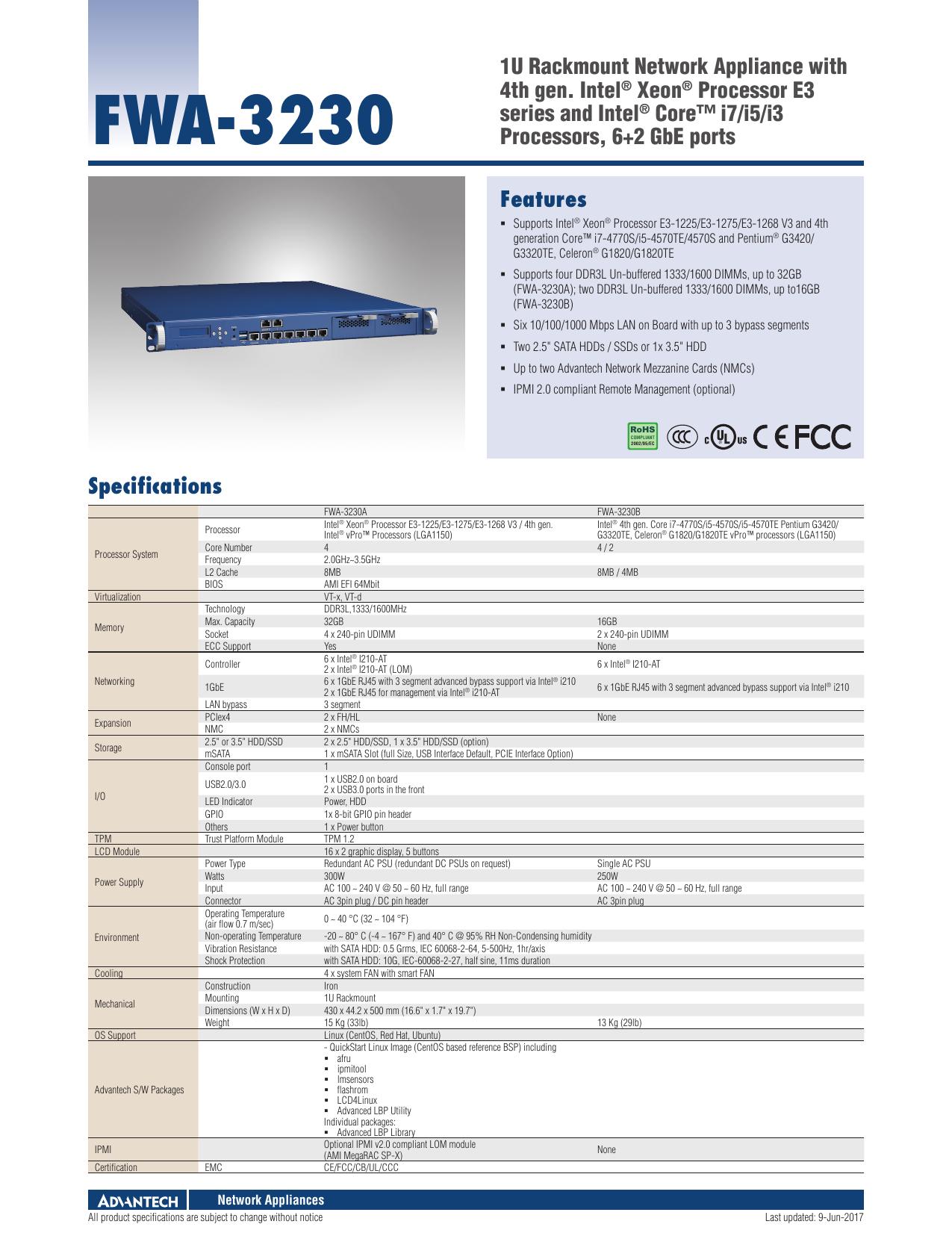 FWA-3230 - Advantech | manualzz com