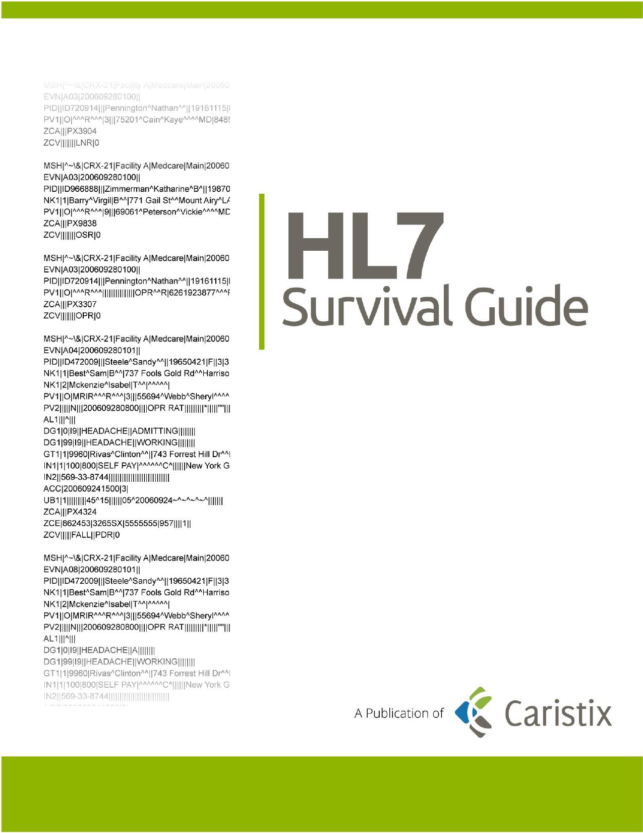 HL7 Survival Guide   manualzz com