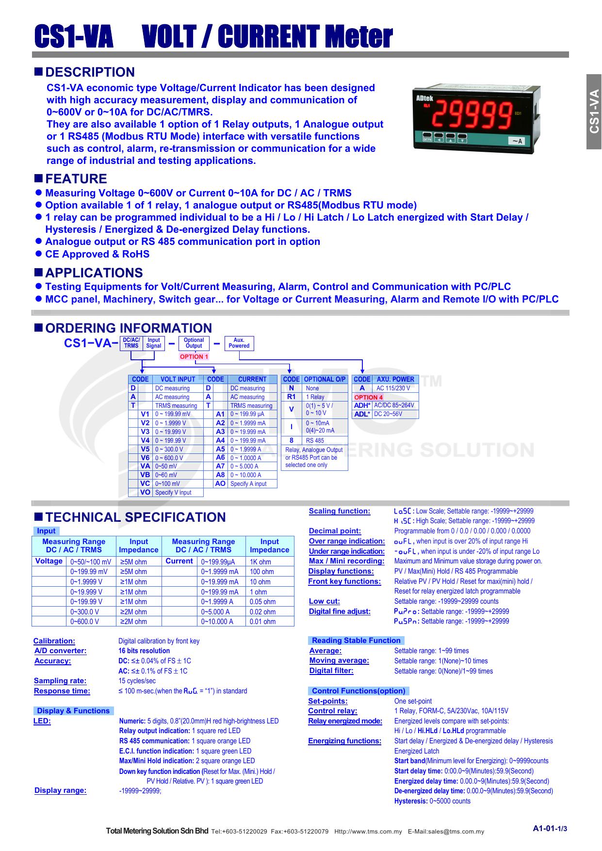 cs1 va volt current meter manualzzcom