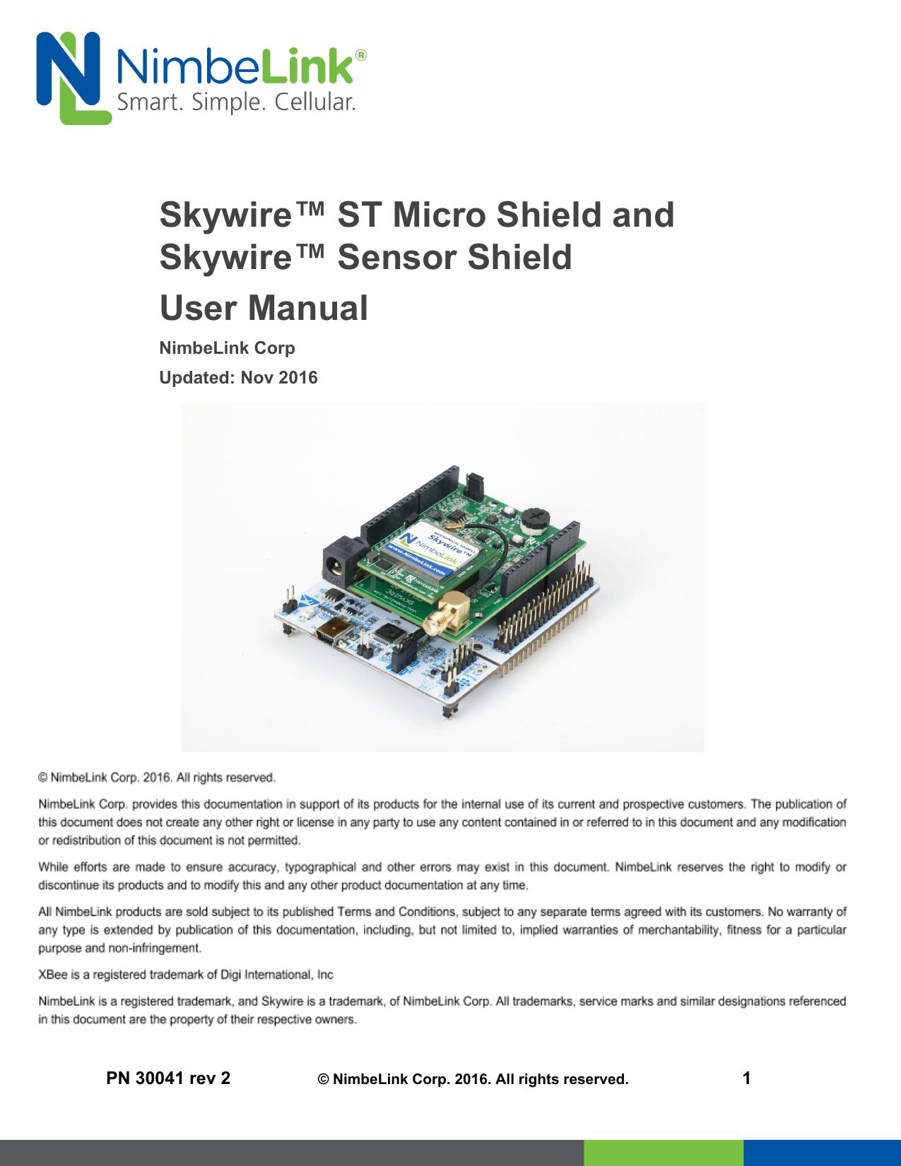 Skywire™ ST Micro Shield and Skywire™ Sensor | manualzz com