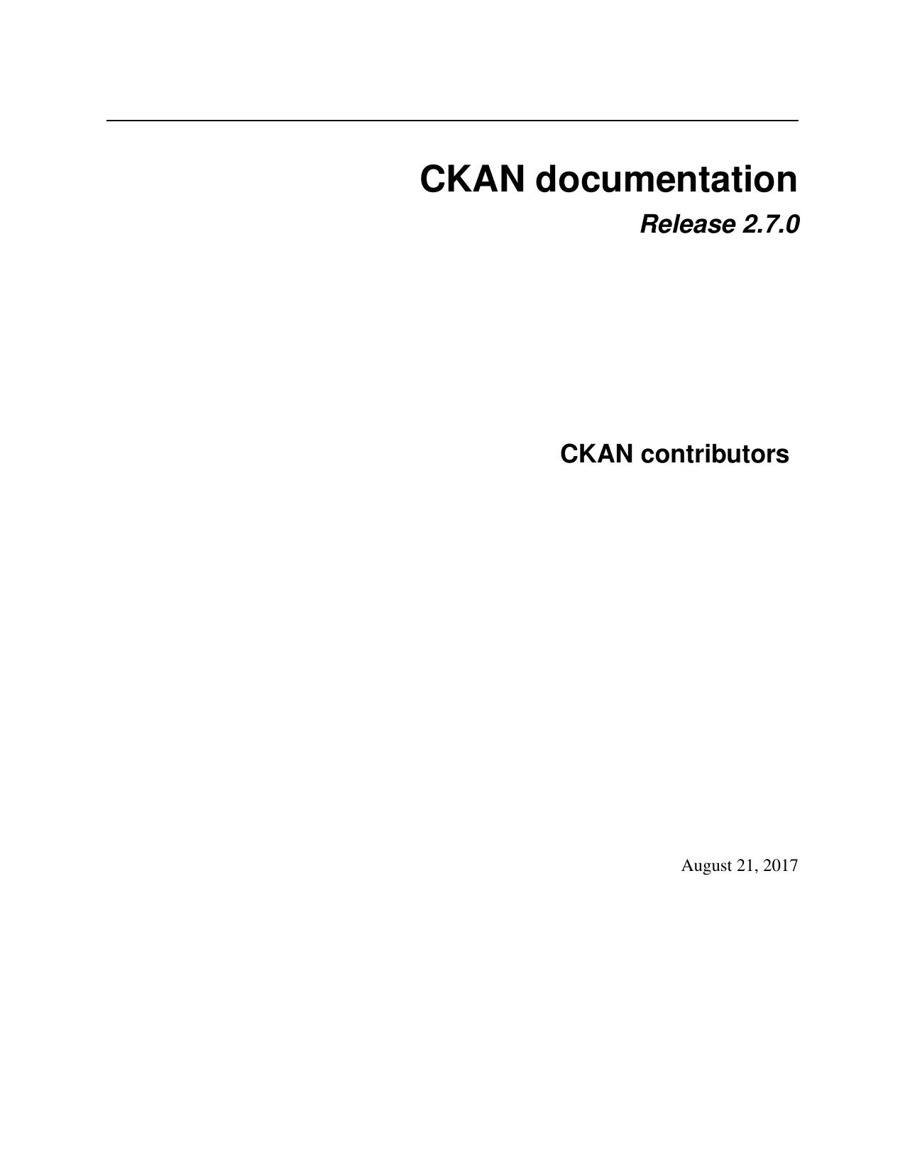 CKAN documentation | manualzz com