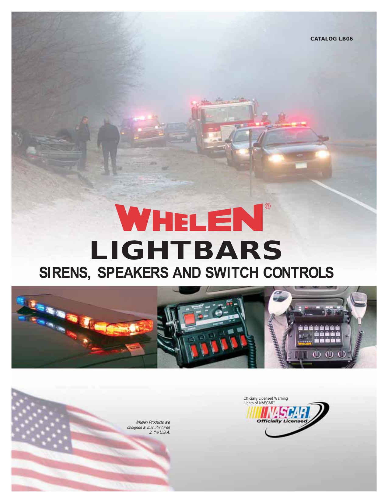 Whelen Liberty Patriot Mirror Beam 500 Series Halogen Alley Takedown Flasher