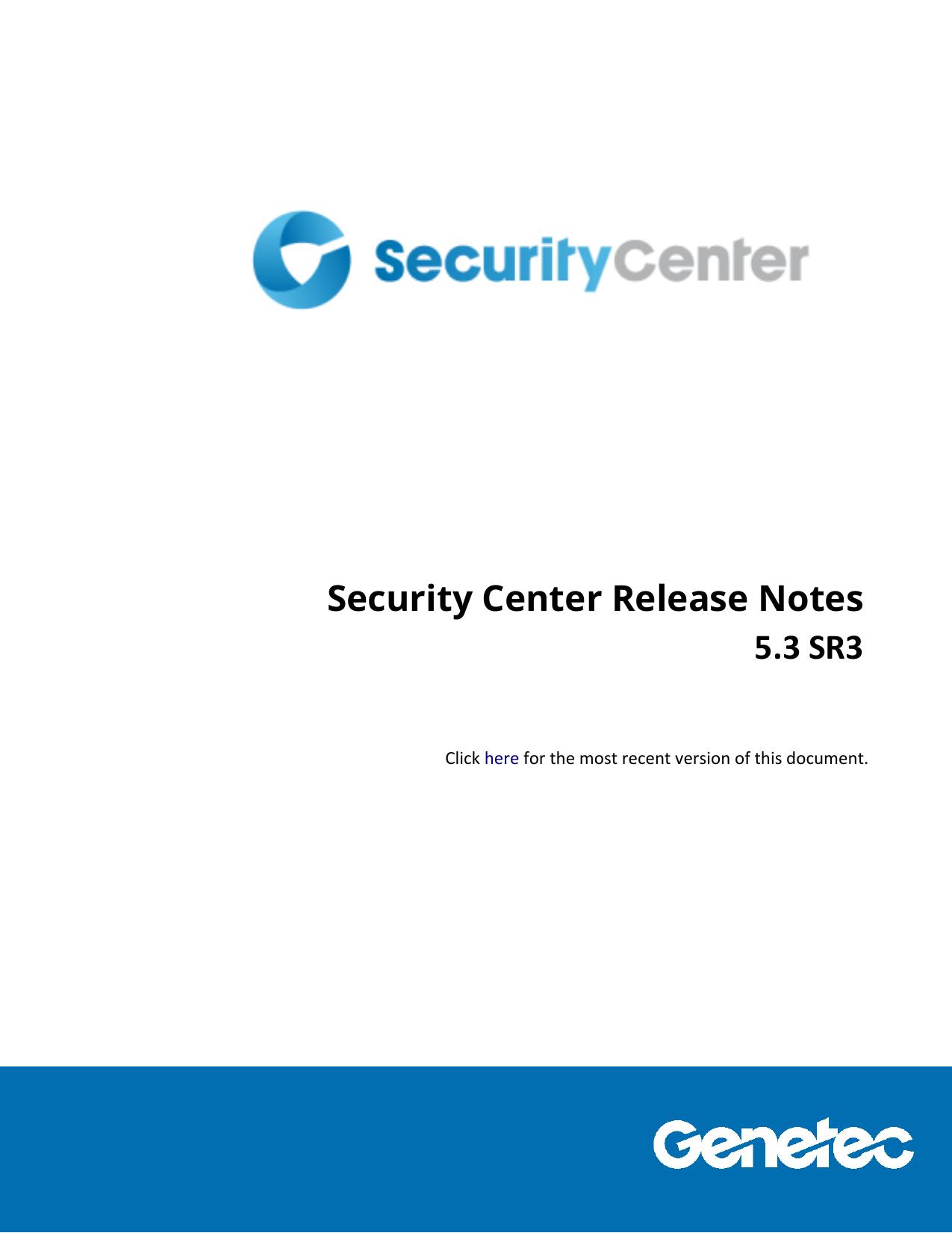 Security Center Release Notes | manualzz com