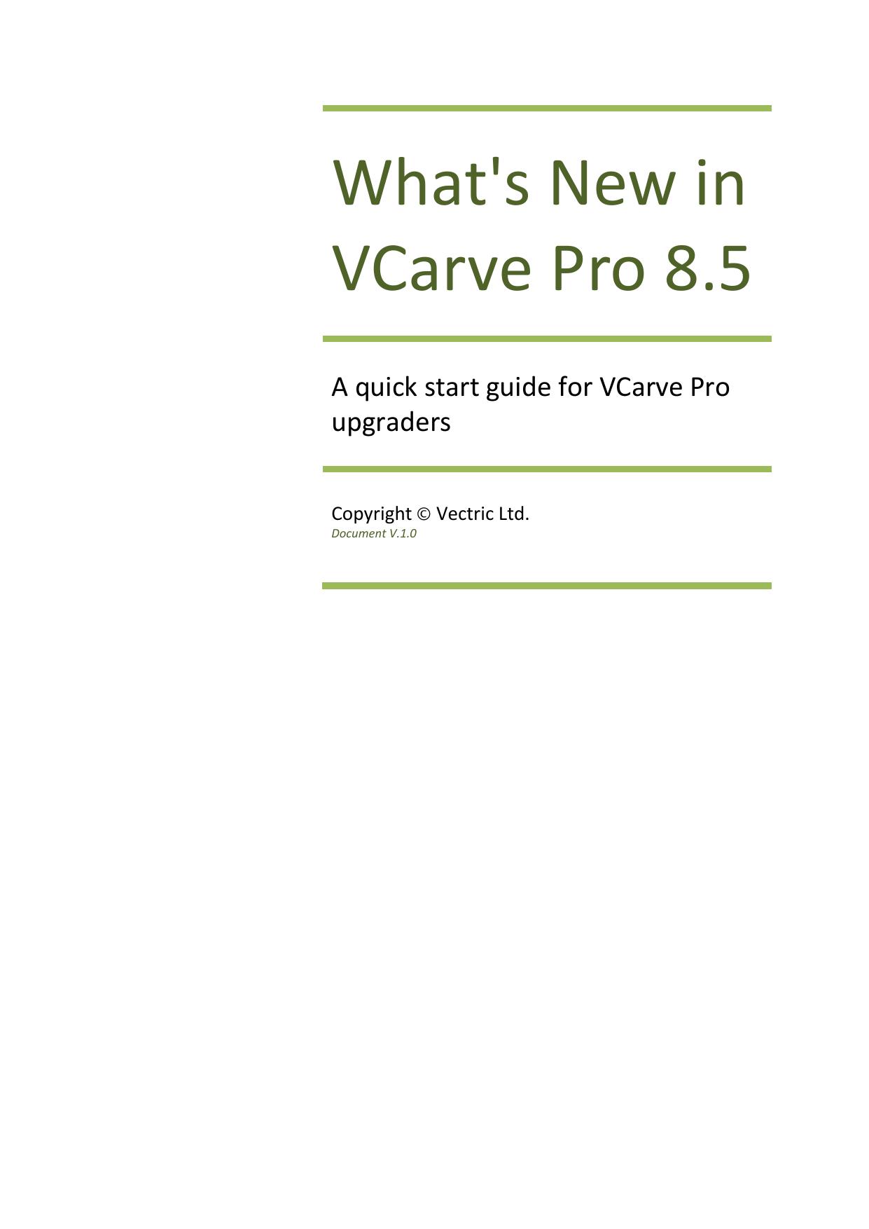 VCarve Pro WhatsNew | manualzz com