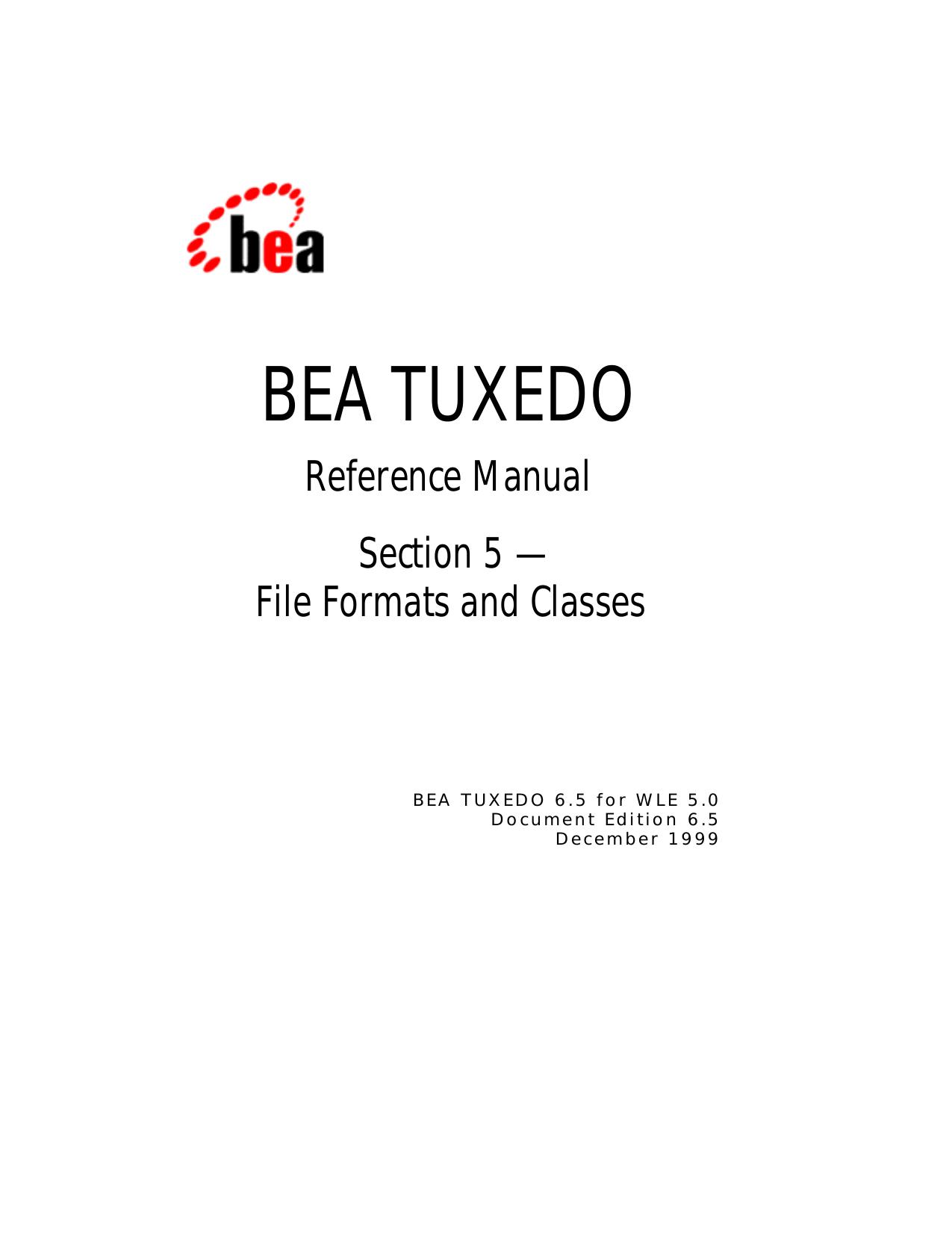 bea tuxedo - Oracle Help Center   manualzz com
