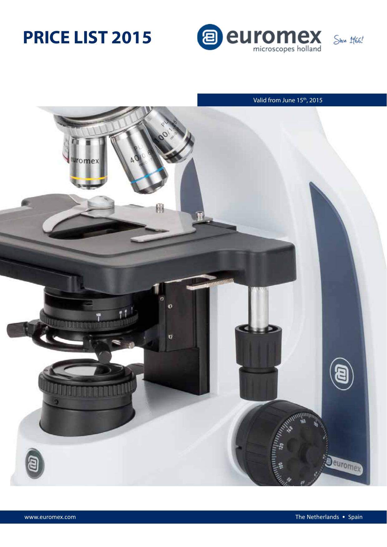 10x//20x//30x Euromex ED.1502-S EduBlue Binocular Stereo Microscope Rack and Pinion Stand