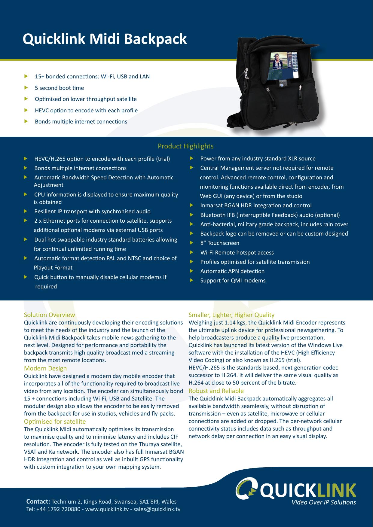 Quicklink Midi Backpack | manualzz com