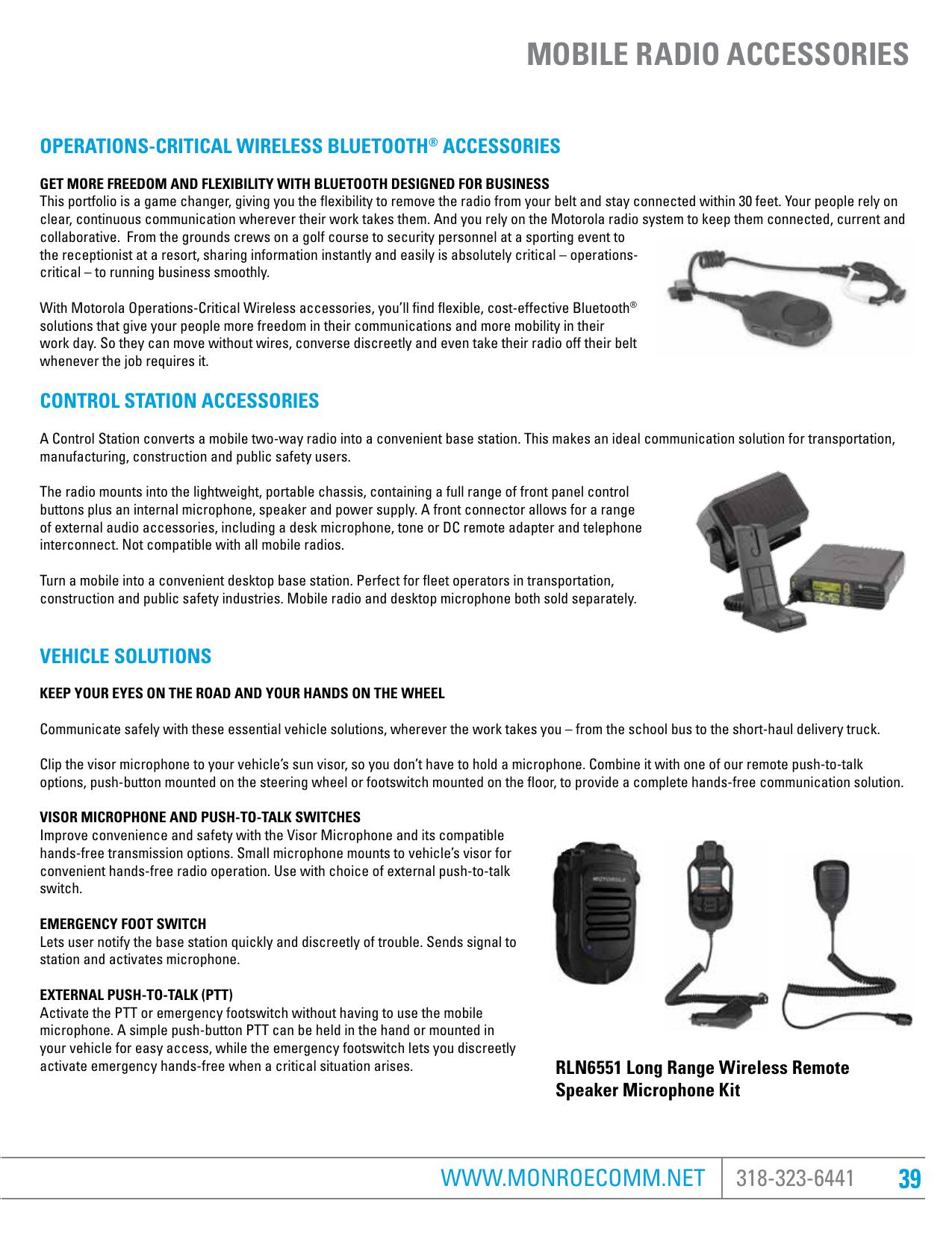PORTABLE RADIO ACCESSORIES | manualzz com