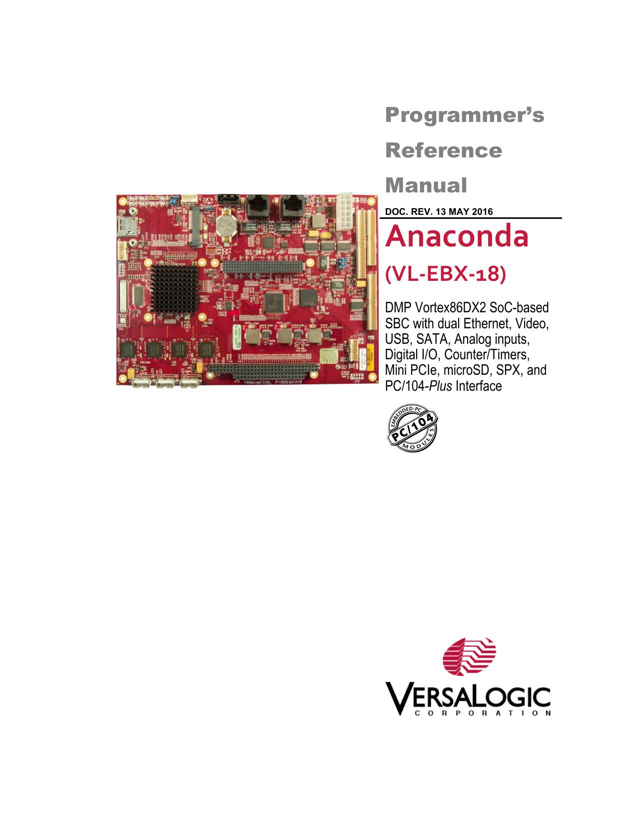 EBX-18 Programmer`s Reference Manual | manualzz com