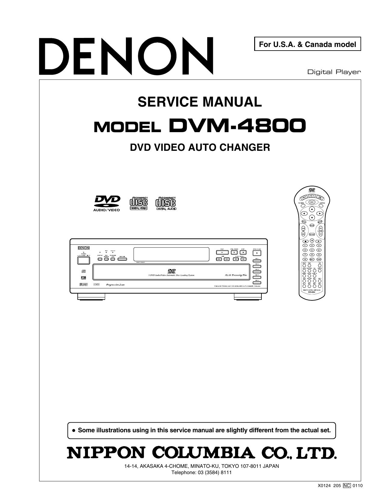 MODEL DVM-4800 | manualzz com