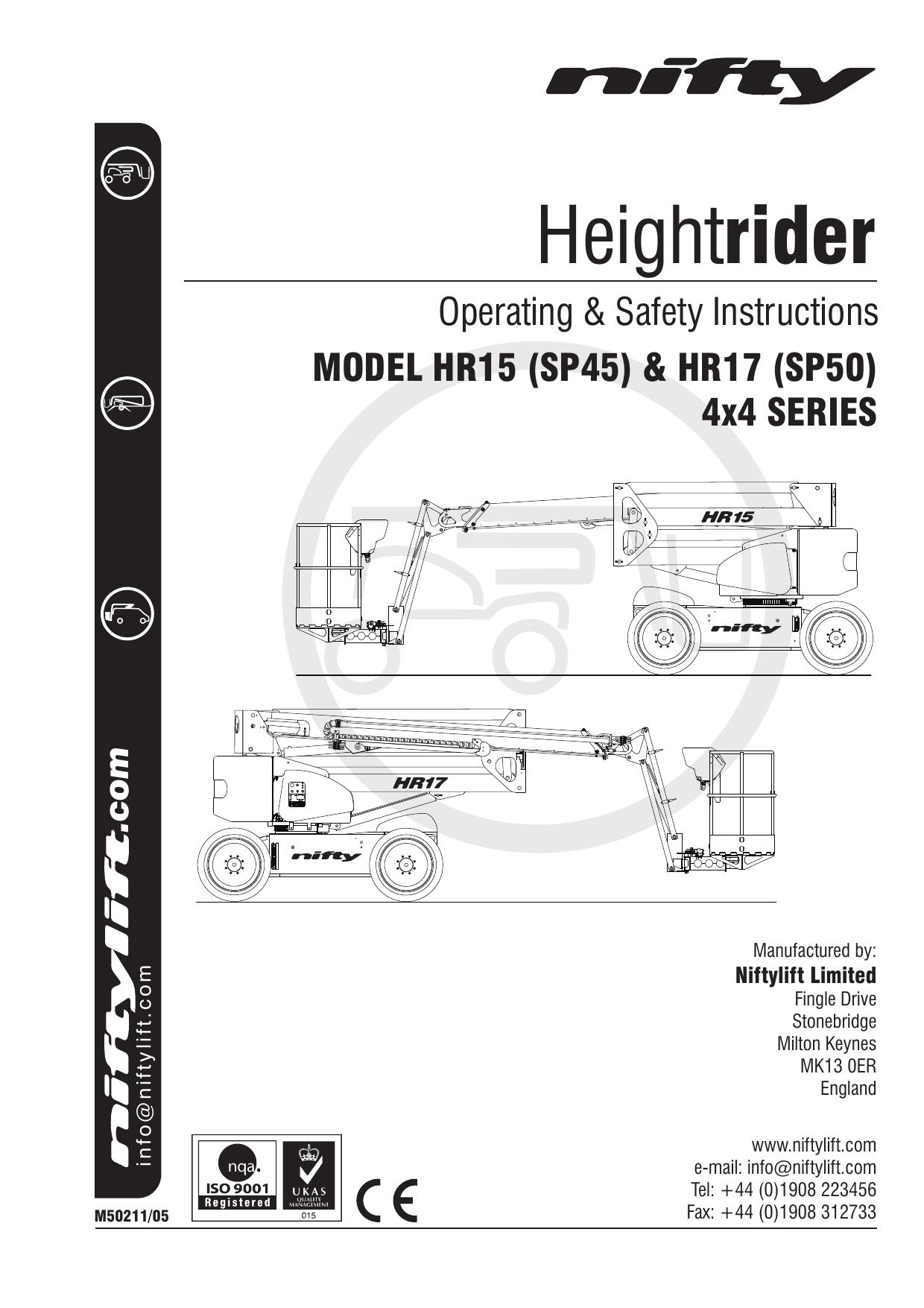 HR15/17 (SP45/50) Operating Manual | manualzz com