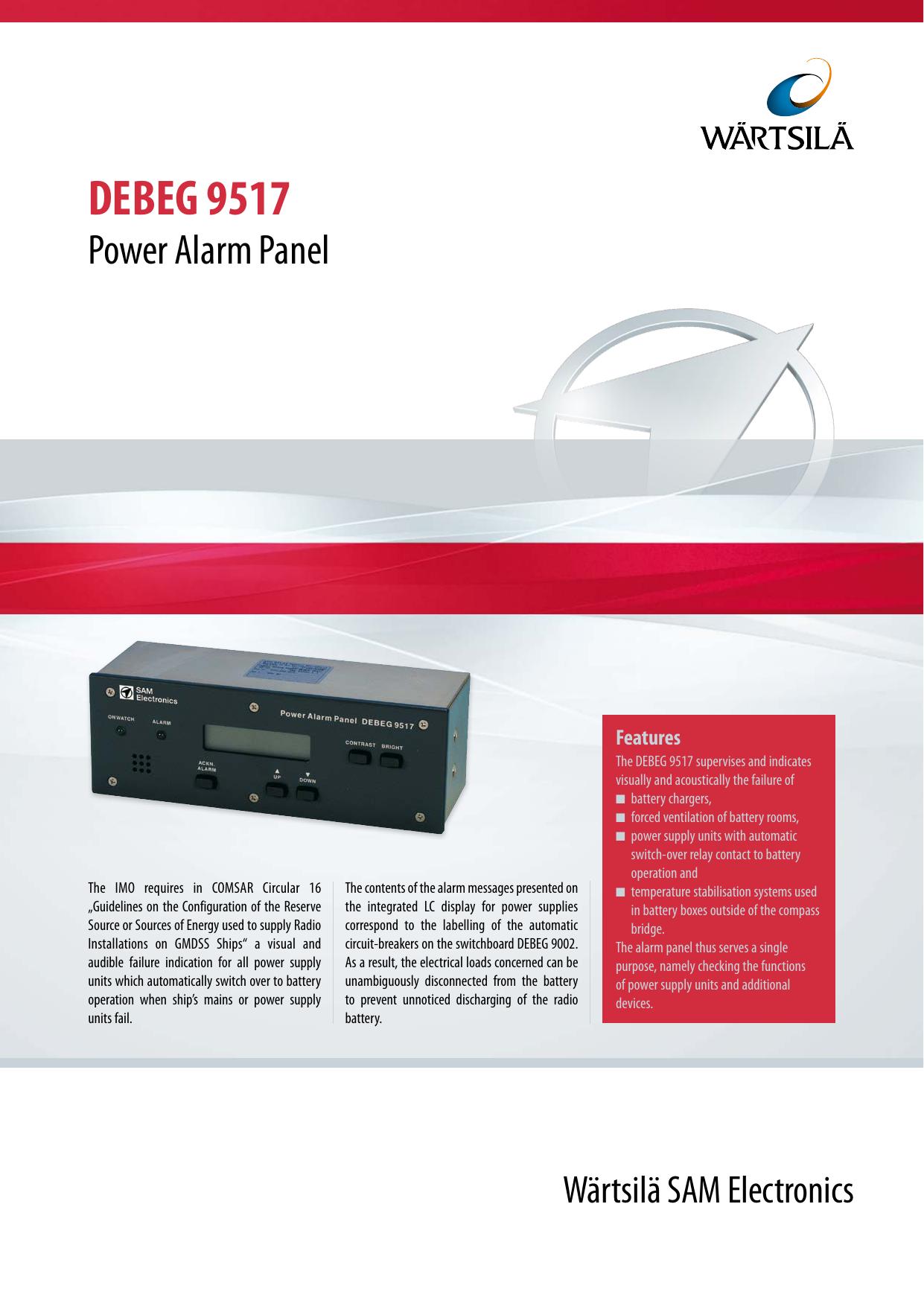 Debeg 9517 Wrtsil Sam Electronics Power Switchover Relay