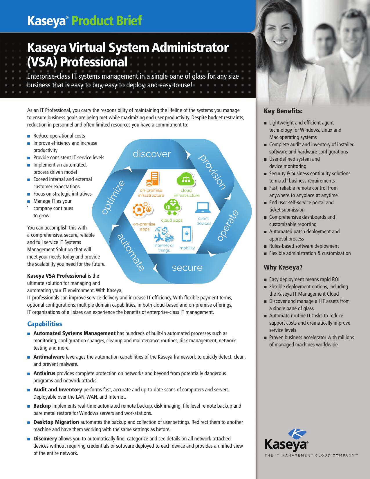 VSA) Professional Kaseya® Product Brief | manualzz com