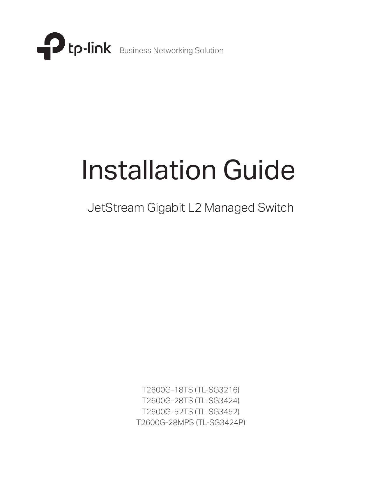 Installation Guide - TP-Link | manualzz com