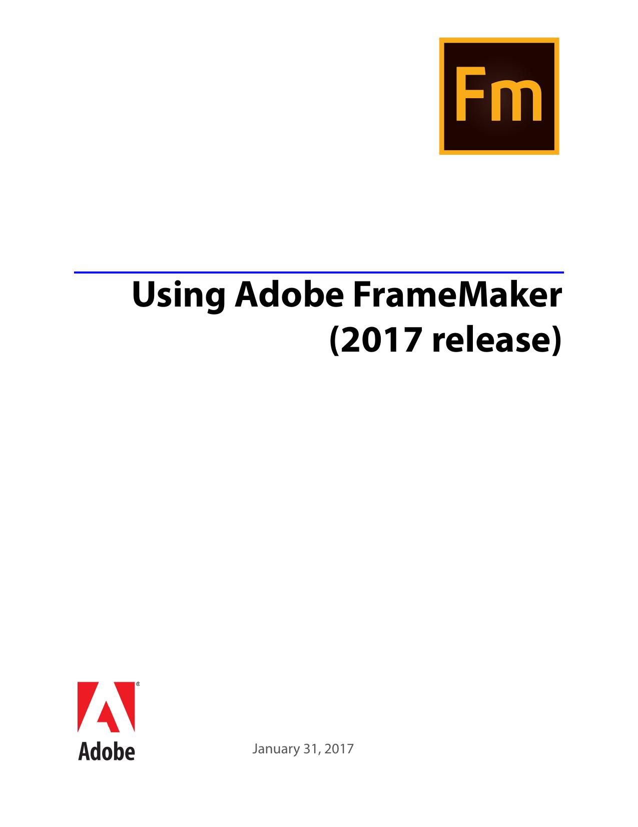 Using Adobe FrameMaker (2017 release)   manualzz com