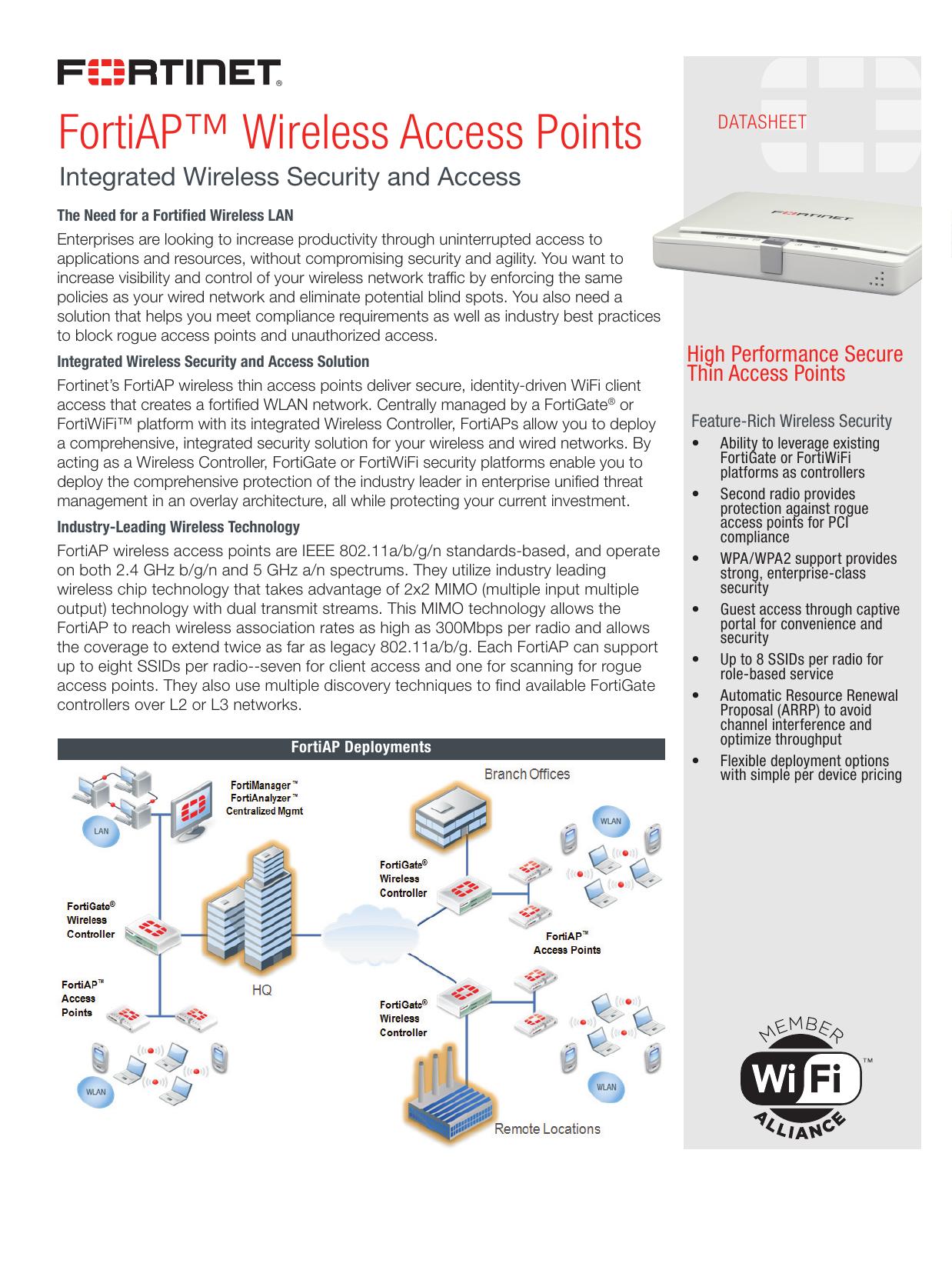 FortiAP™ Wireless Access Points | manualzz com