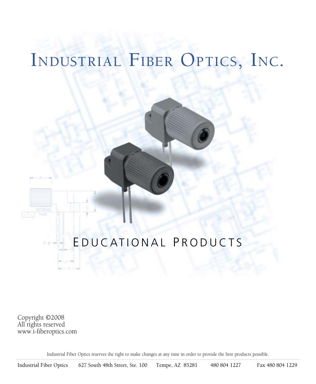 Industrial Fiber Optics Inc Driver Laser Diode Module Leveling Bar Code Reader
