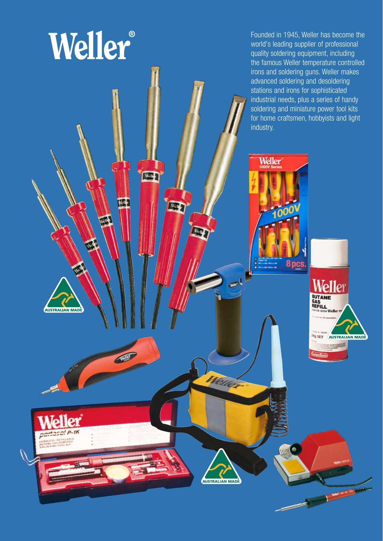Weller WSTA6 Pyropen Junior Self-Igniting Cordless Butane Soldering Iron Cooper Hand Tools