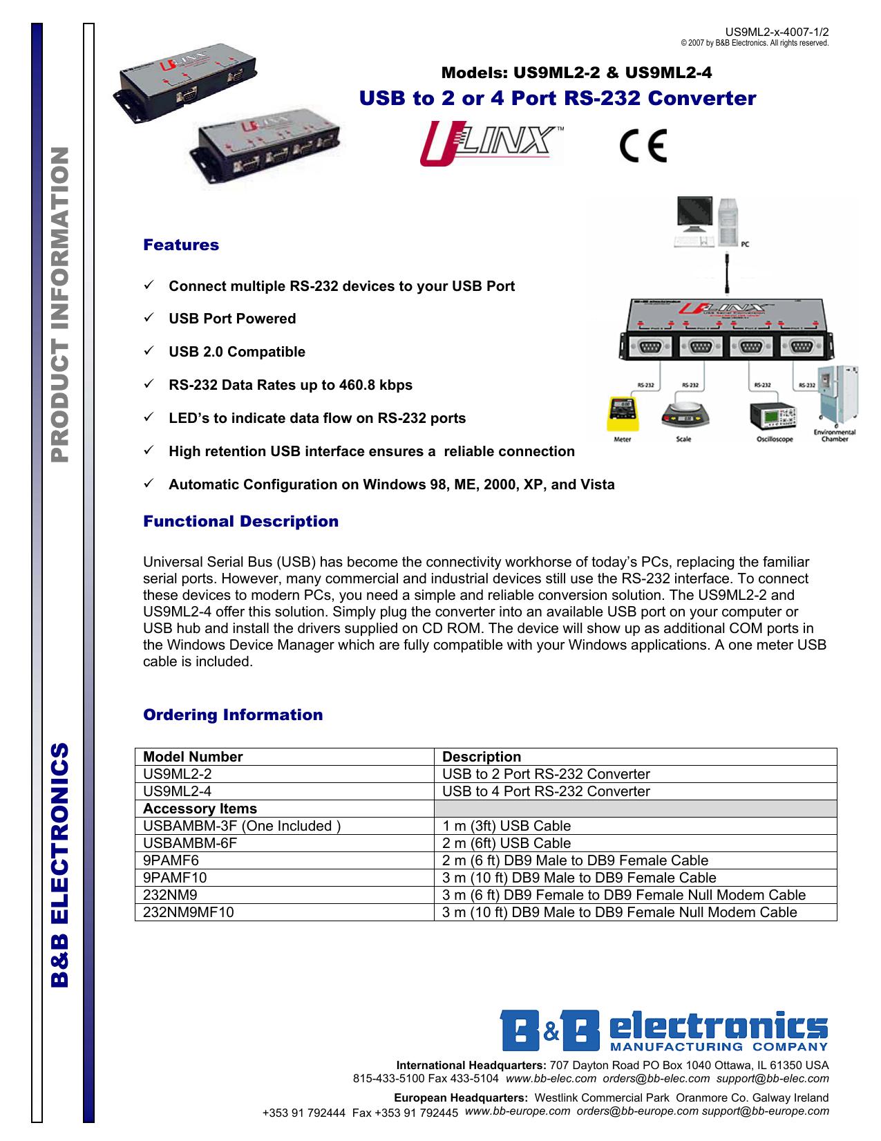 B&B USO9ML2DR-2 DRIVER