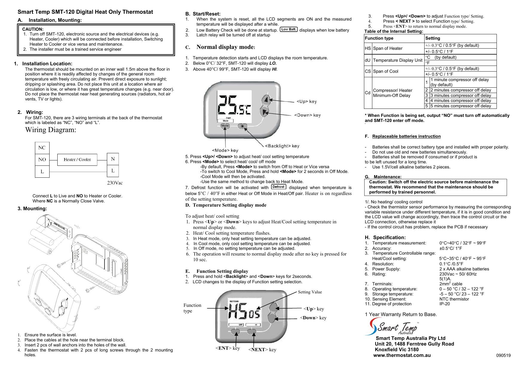 Wiring Diagram - Smart Temp Australia   Manualzzmanualzz