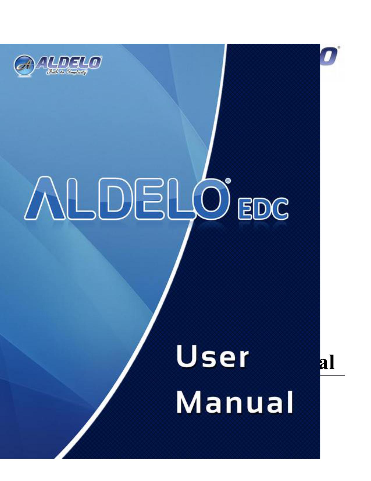 Aldelo® EDC 6 2 User Manual | manualzz com